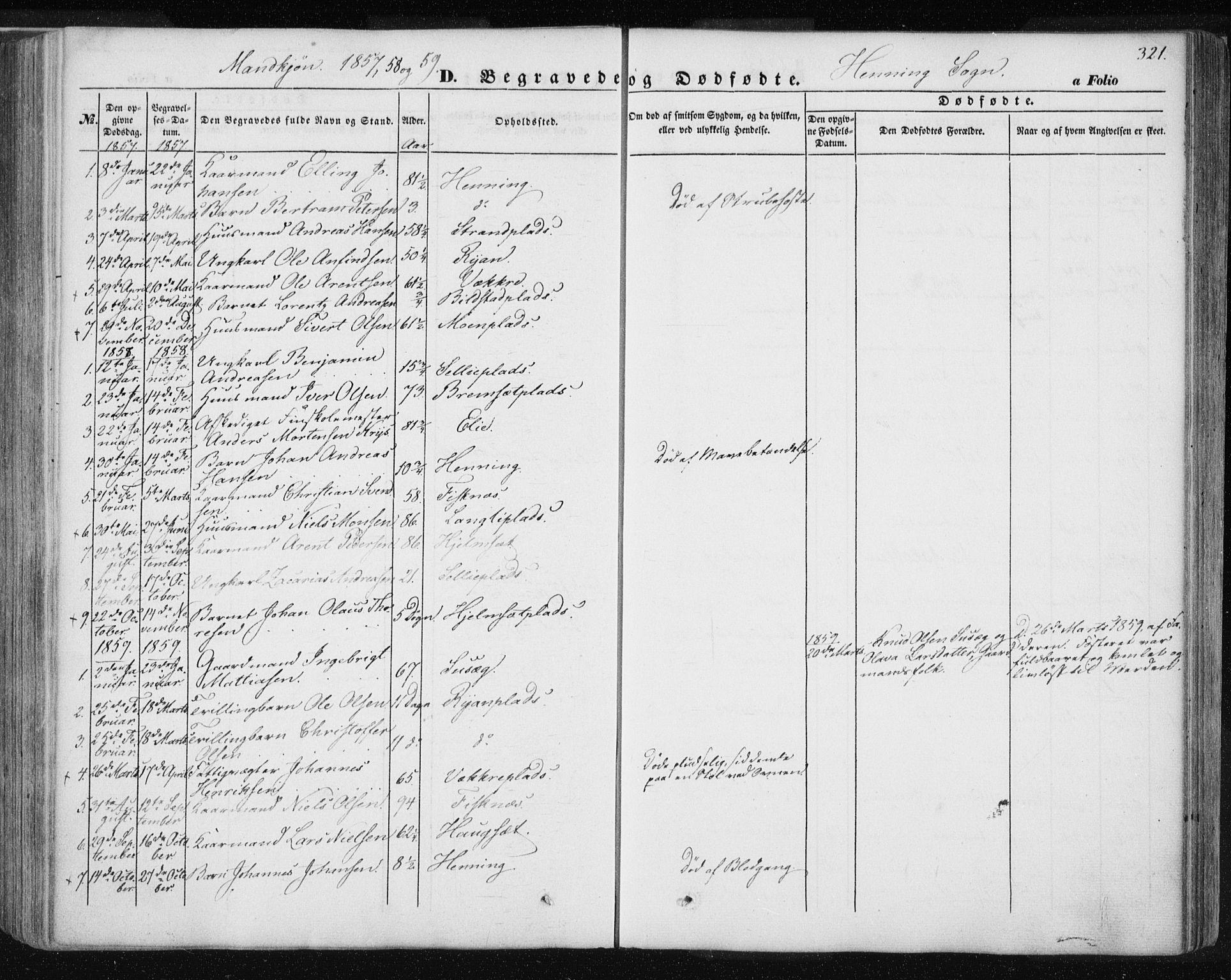 SAT, Ministerialprotokoller, klokkerbøker og fødselsregistre - Nord-Trøndelag, 735/L0342: Ministerialbok nr. 735A07 /3, 1849-1862, s. 321