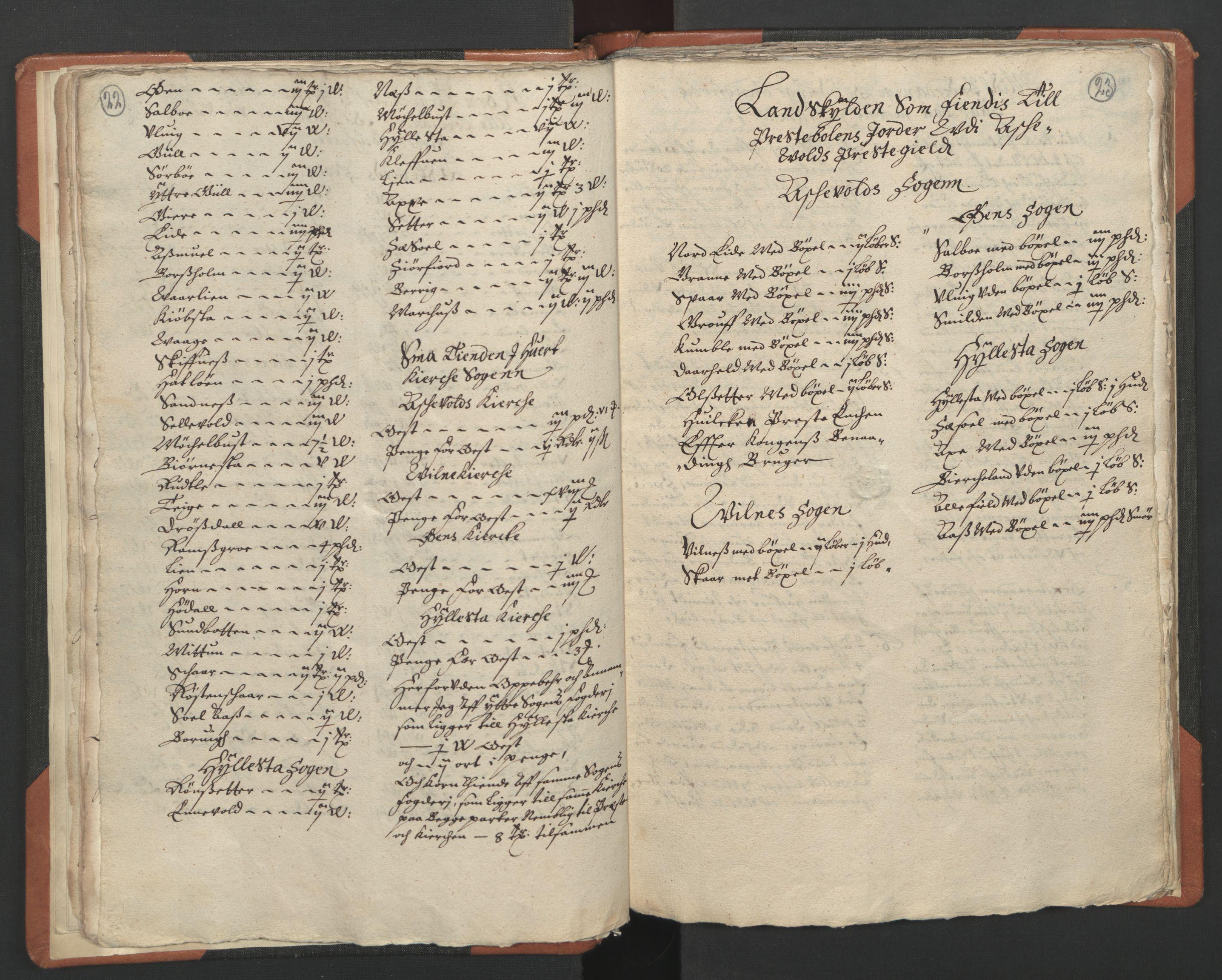 RA, Sogneprestenes manntall 1664-1666, nr. 24: Sunnfjord prosti, 1664-1666, s. 22-23