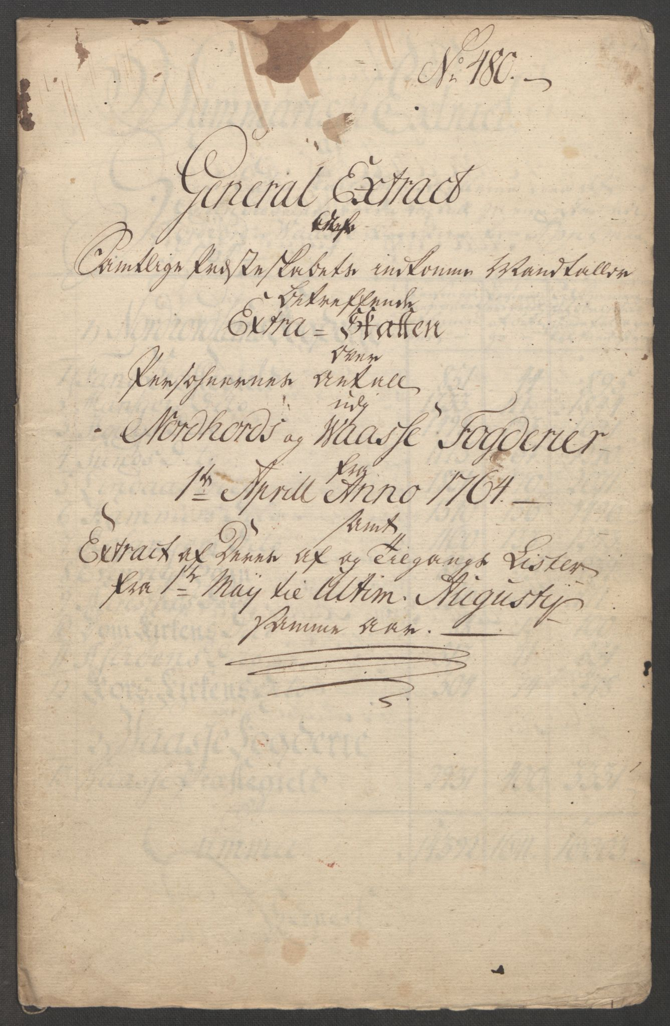 RA, Rentekammeret inntil 1814, Reviderte regnskaper, Fogderegnskap, R51/L3303: Ekstraskatten Nordhordland og Voss, 1762-1772, s. 467