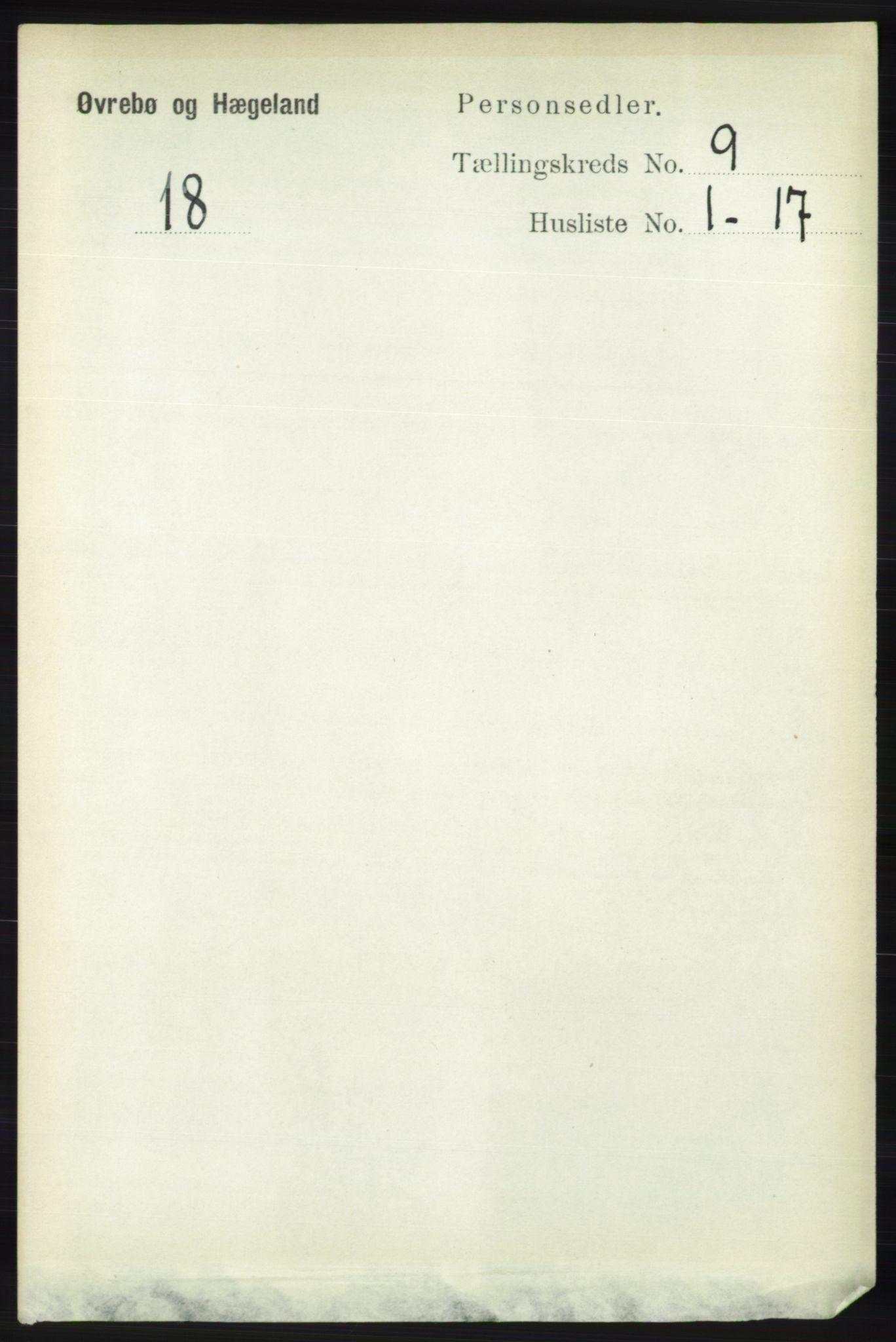 RA, Folketelling 1891 for 1016 Øvrebø og Hægeland herred, 1891, s. 1747
