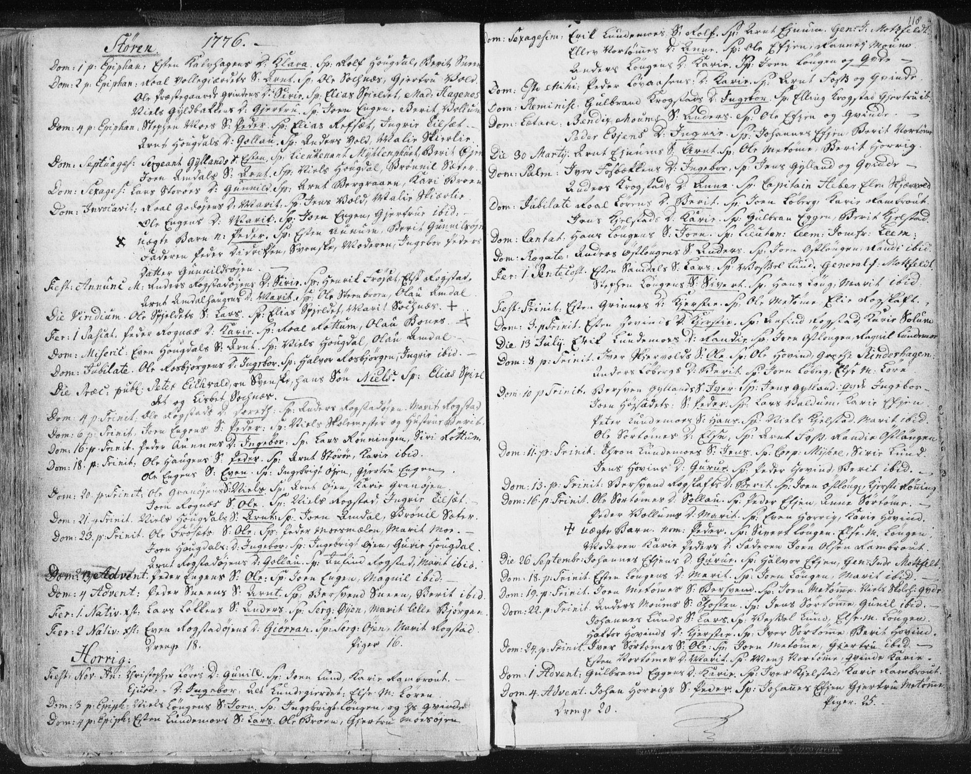 SAT, Ministerialprotokoller, klokkerbøker og fødselsregistre - Sør-Trøndelag, 687/L0991: Ministerialbok nr. 687A02, 1747-1790, s. 118