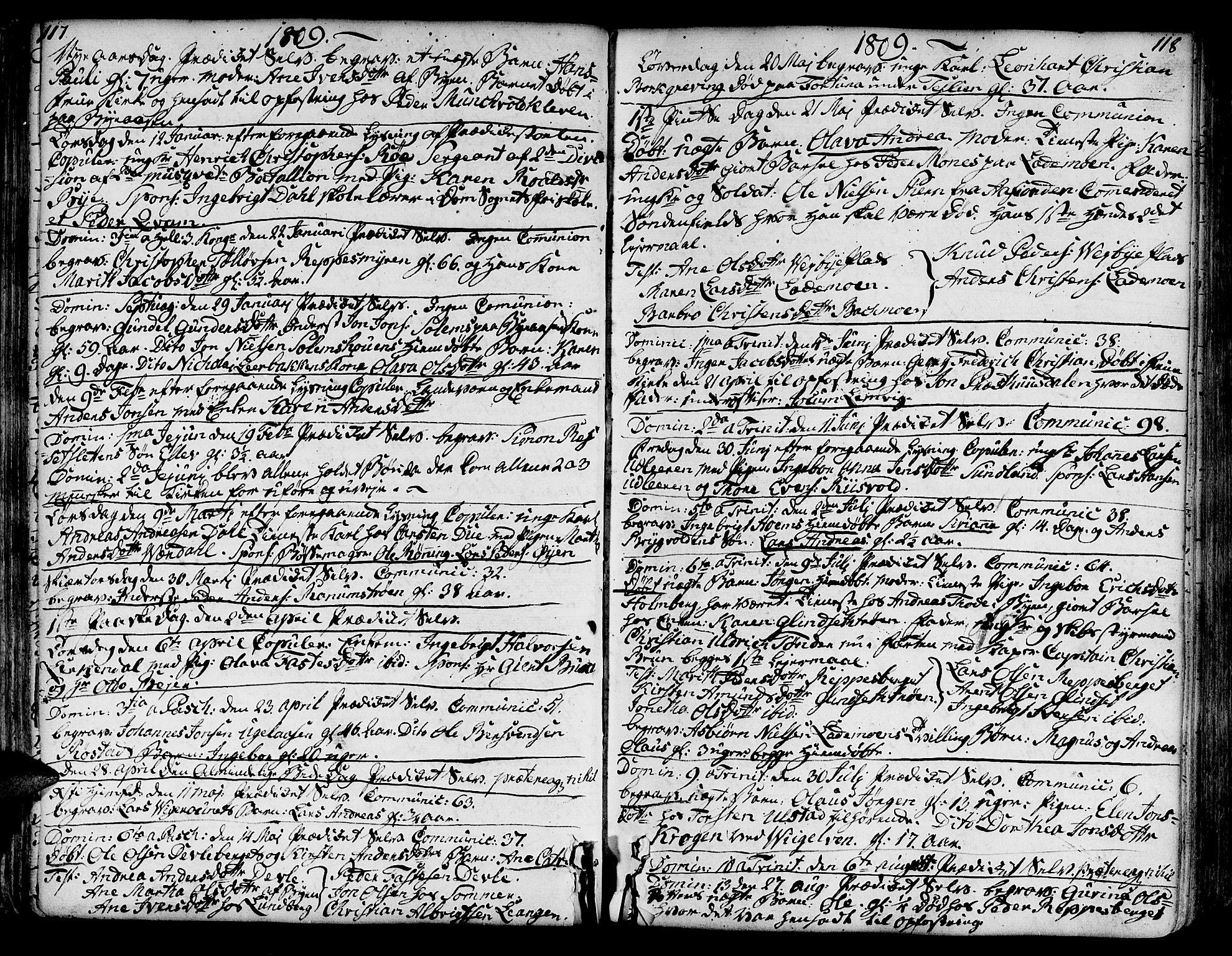 SAT, Ministerialprotokoller, klokkerbøker og fødselsregistre - Sør-Trøndelag, 606/L0280: Ministerialbok nr. 606A02 /1, 1781-1817, s. 117-118