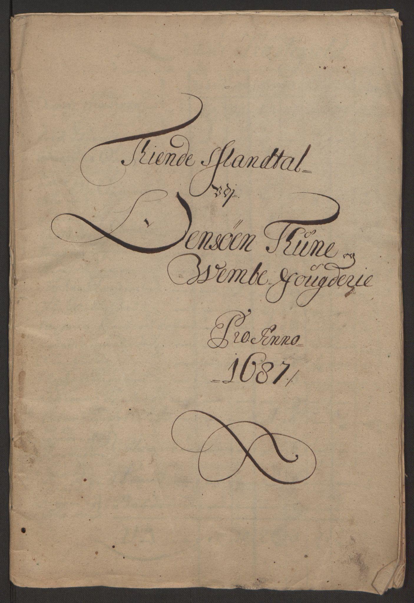 RA, Rentekammeret inntil 1814, Reviderte regnskaper, Fogderegnskap, R03/L0118: Fogderegnskap Onsøy, Tune, Veme og Åbygge fogderi, 1684-1689, s. 280