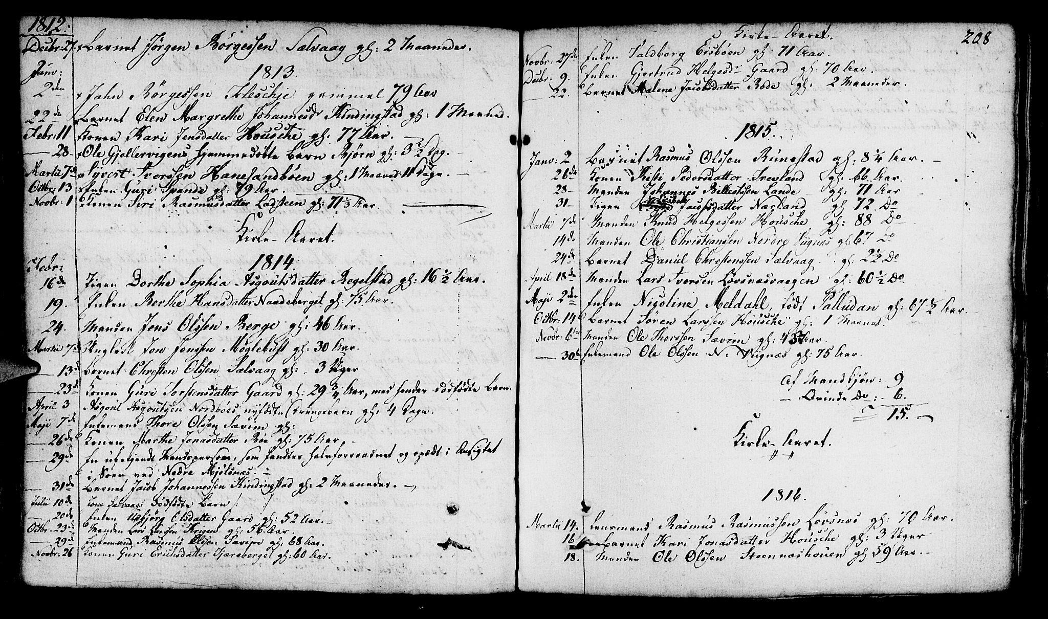 SAST, Finnøy sokneprestkontor, H/Ha/Haa/L0005: Ministerialbok nr. A 5, 1773-1816, s. 208