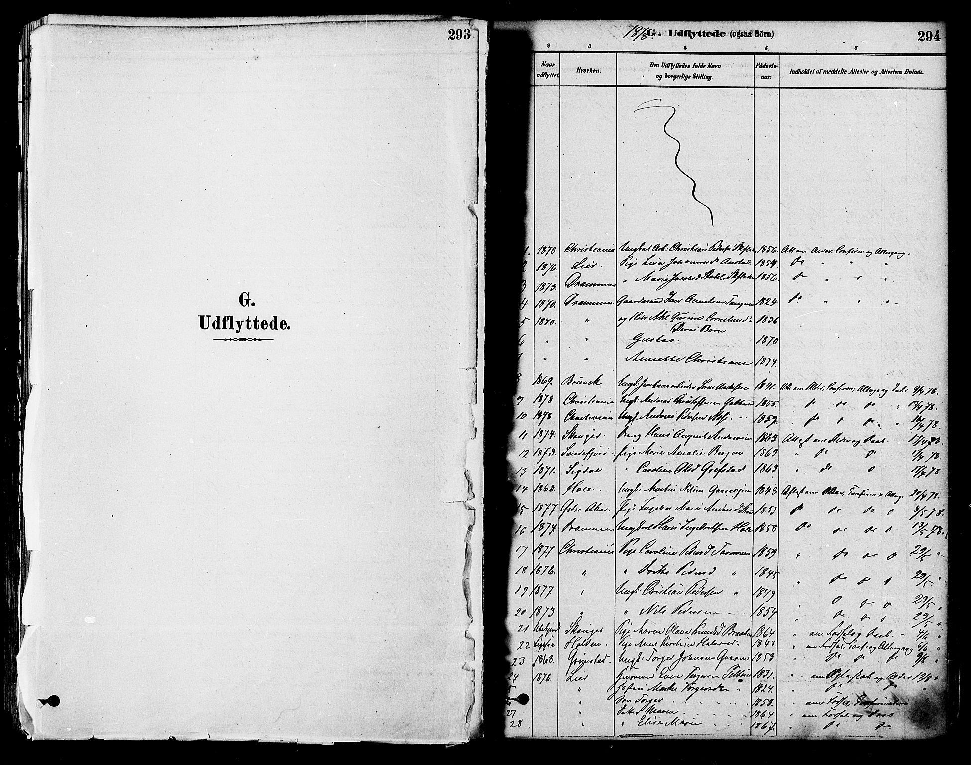SAKO, Modum kirkebøker, F/Fa/L0011: Ministerialbok nr. 11, 1877-1889, s. 294