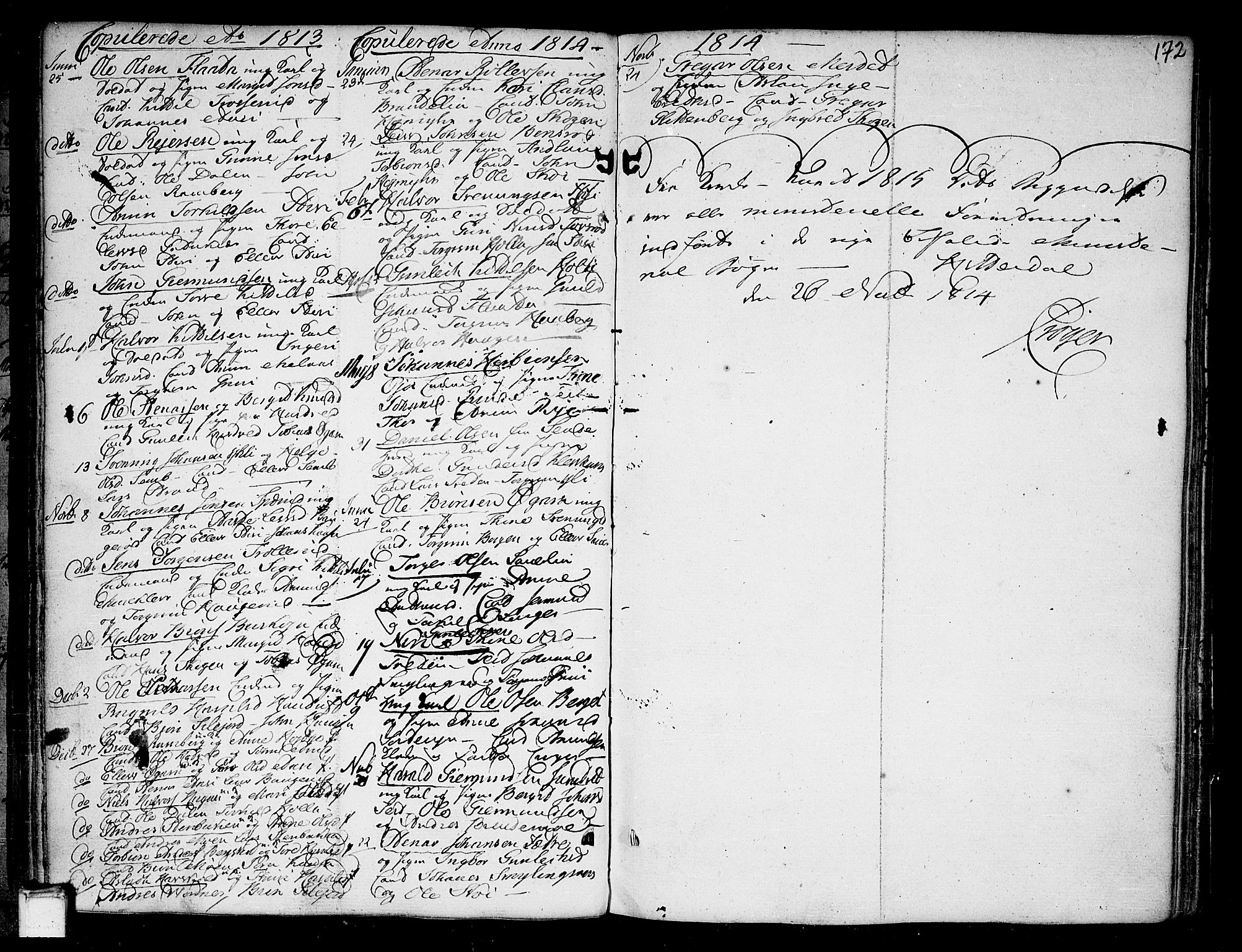 SAKO, Heddal kirkebøker, F/Fa/L0004: Ministerialbok nr. I 4, 1784-1814, s. 172