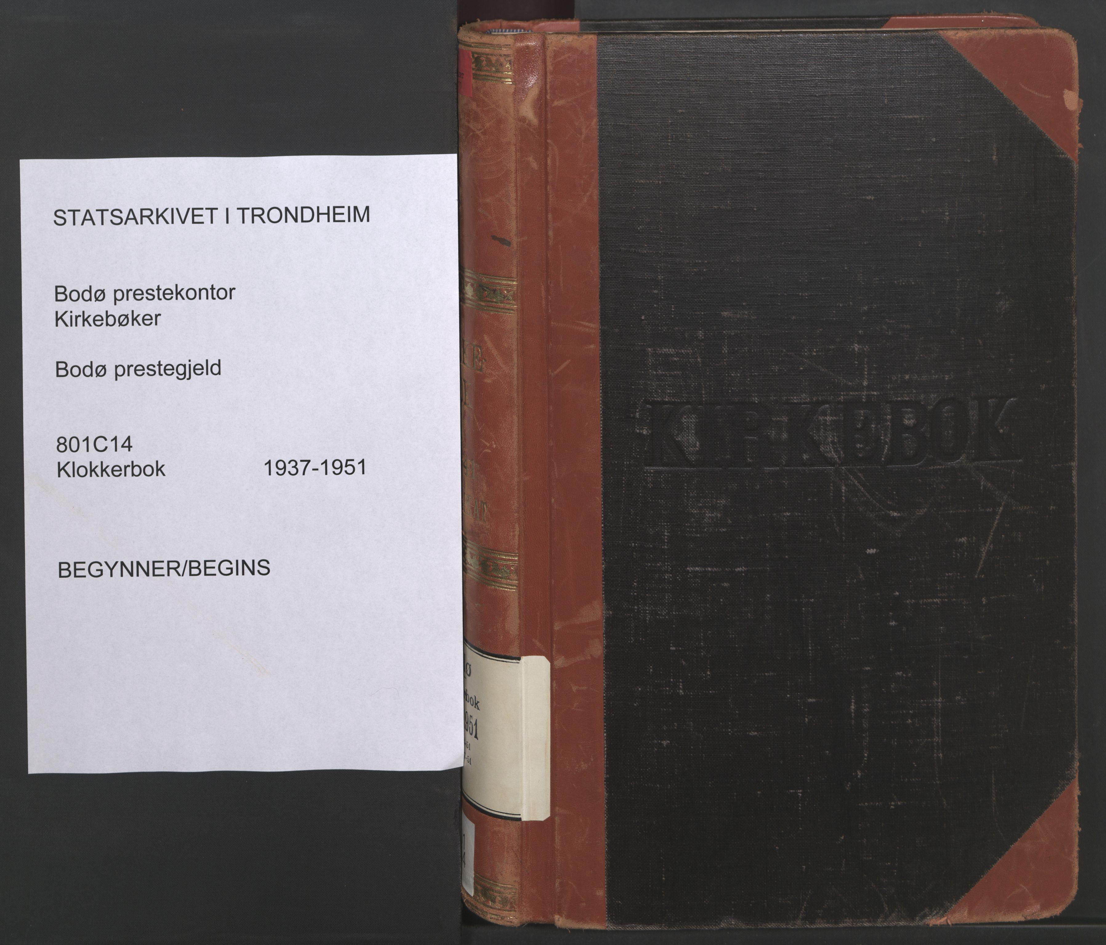 SAT, Ministerialprotokoller, klokkerbøker og fødselsregistre - Nordland, 801/L0039: Klokkerbok nr. 801C14, 1937-1951