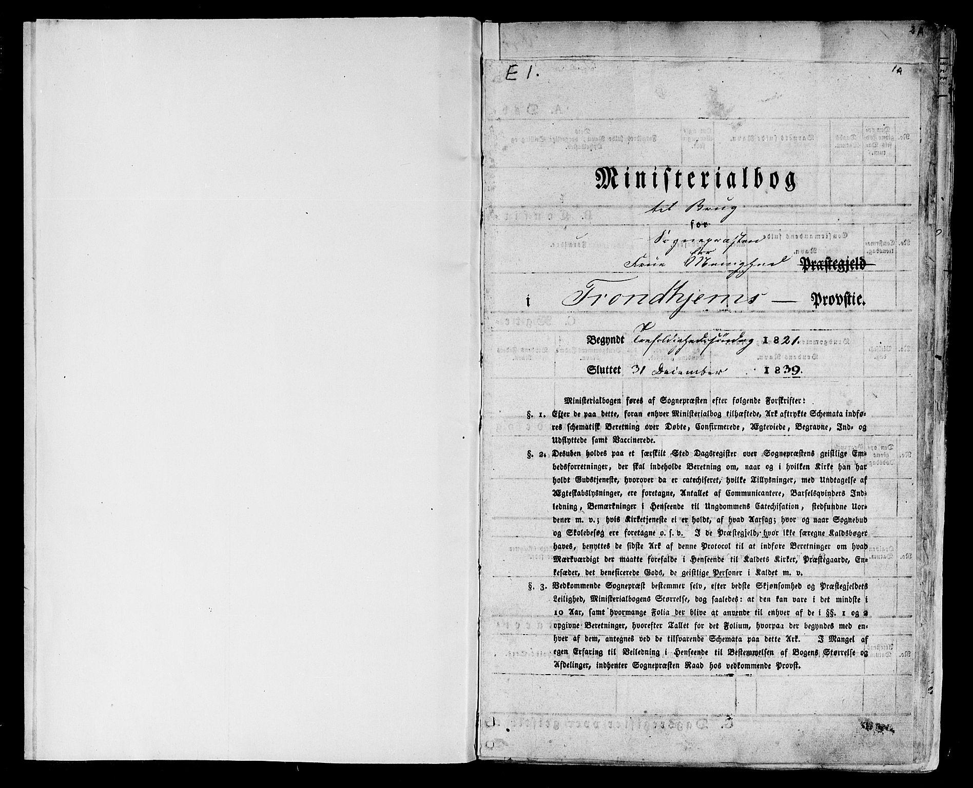 SAT, Ministerialprotokoller, klokkerbøker og fødselsregistre - Sør-Trøndelag, 602/L0108: Ministerialbok nr. 602A06, 1821-1839