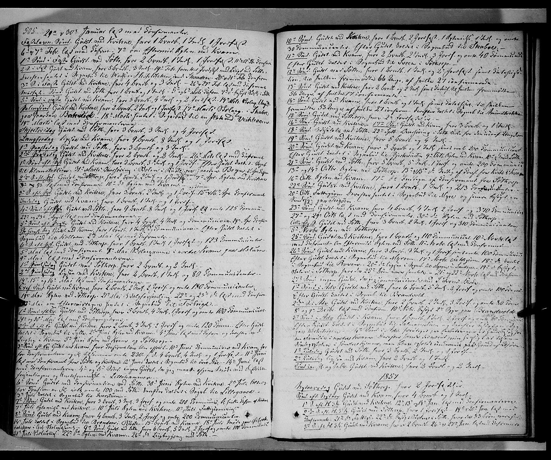 SAH, Nord-Fron prestekontor, Ministerialbok nr. 1, 1851-1864, s. 505