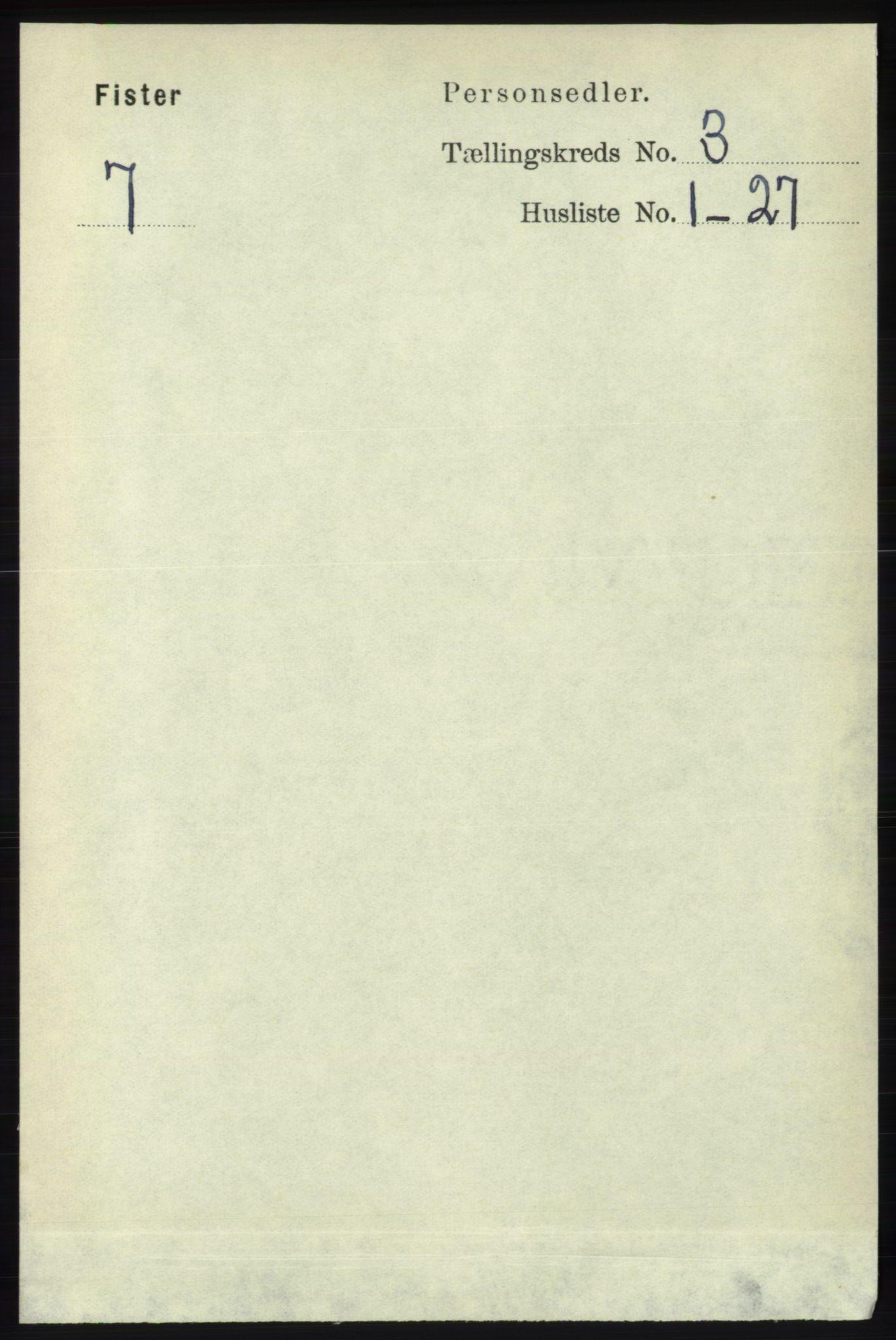 RA, Folketelling 1891 for 1132 Fister herred, 1891, s. 522