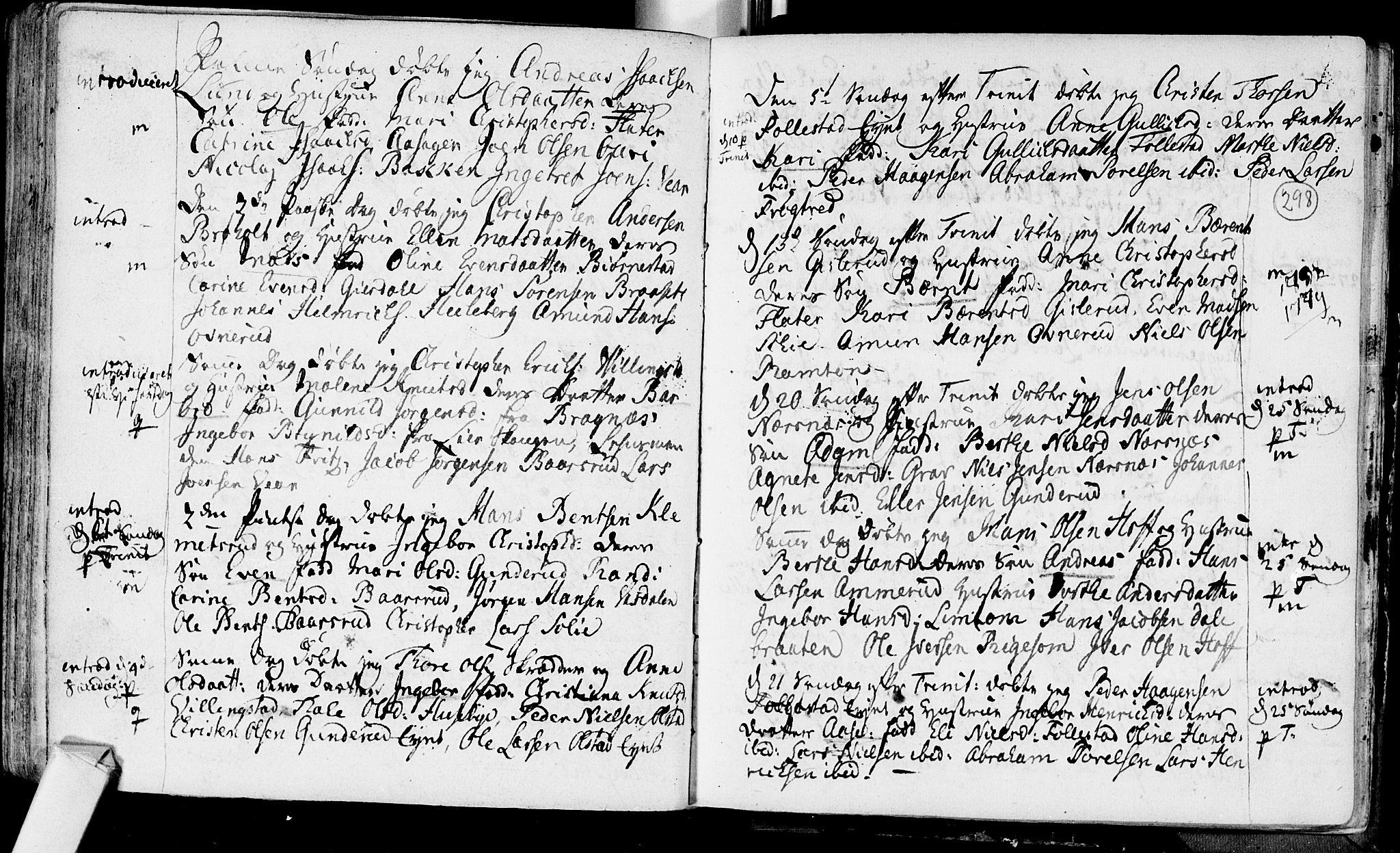 SAKO, Røyken kirkebøker, F/Fa/L0002: Ministerialbok nr. 2, 1731-1782, s. 298