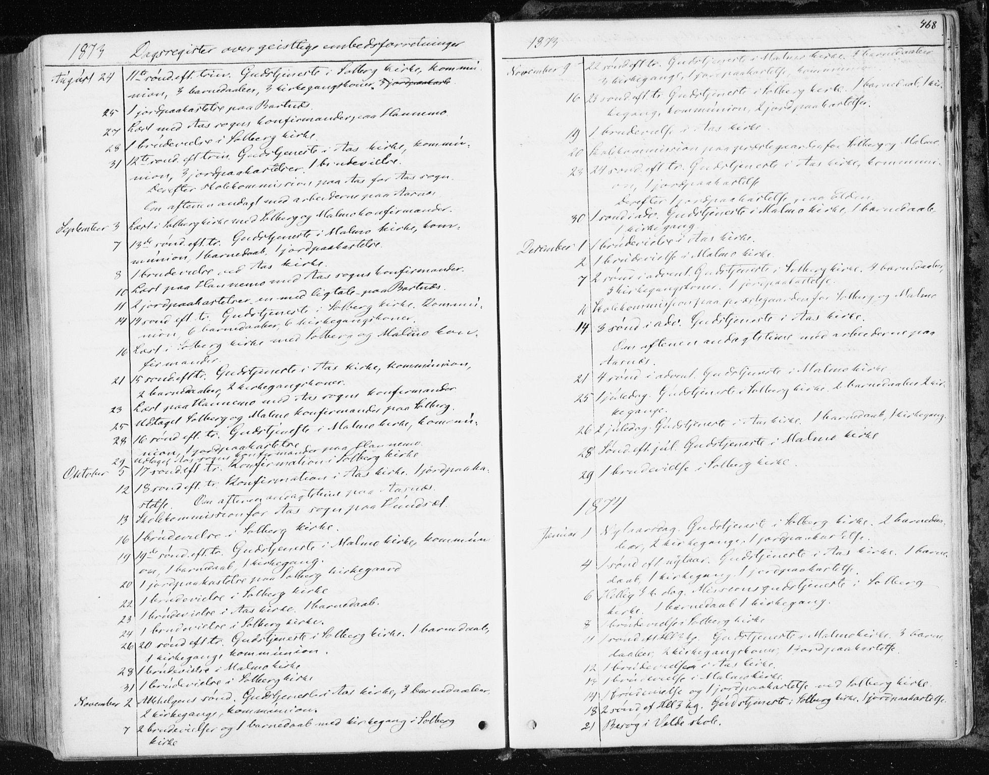 SAT, Ministerialprotokoller, klokkerbøker og fødselsregistre - Nord-Trøndelag, 741/L0394: Ministerialbok nr. 741A08, 1864-1877, s. 468