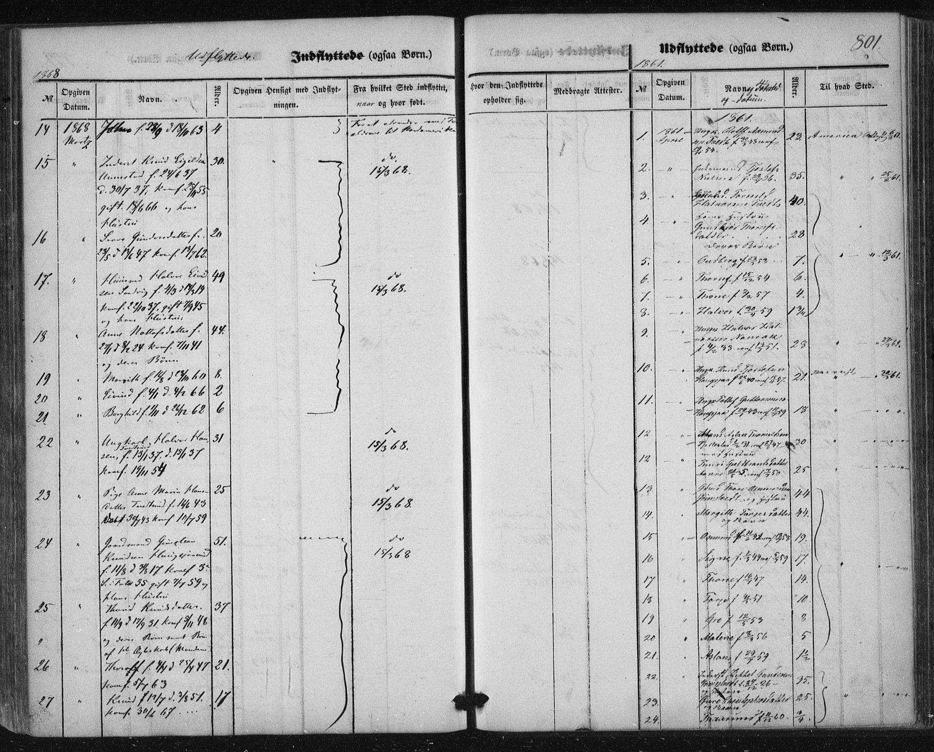 SAKO, Nissedal kirkebøker, F/Fa/L0003: Ministerialbok nr. I 3, 1846-1870, s. 800-801