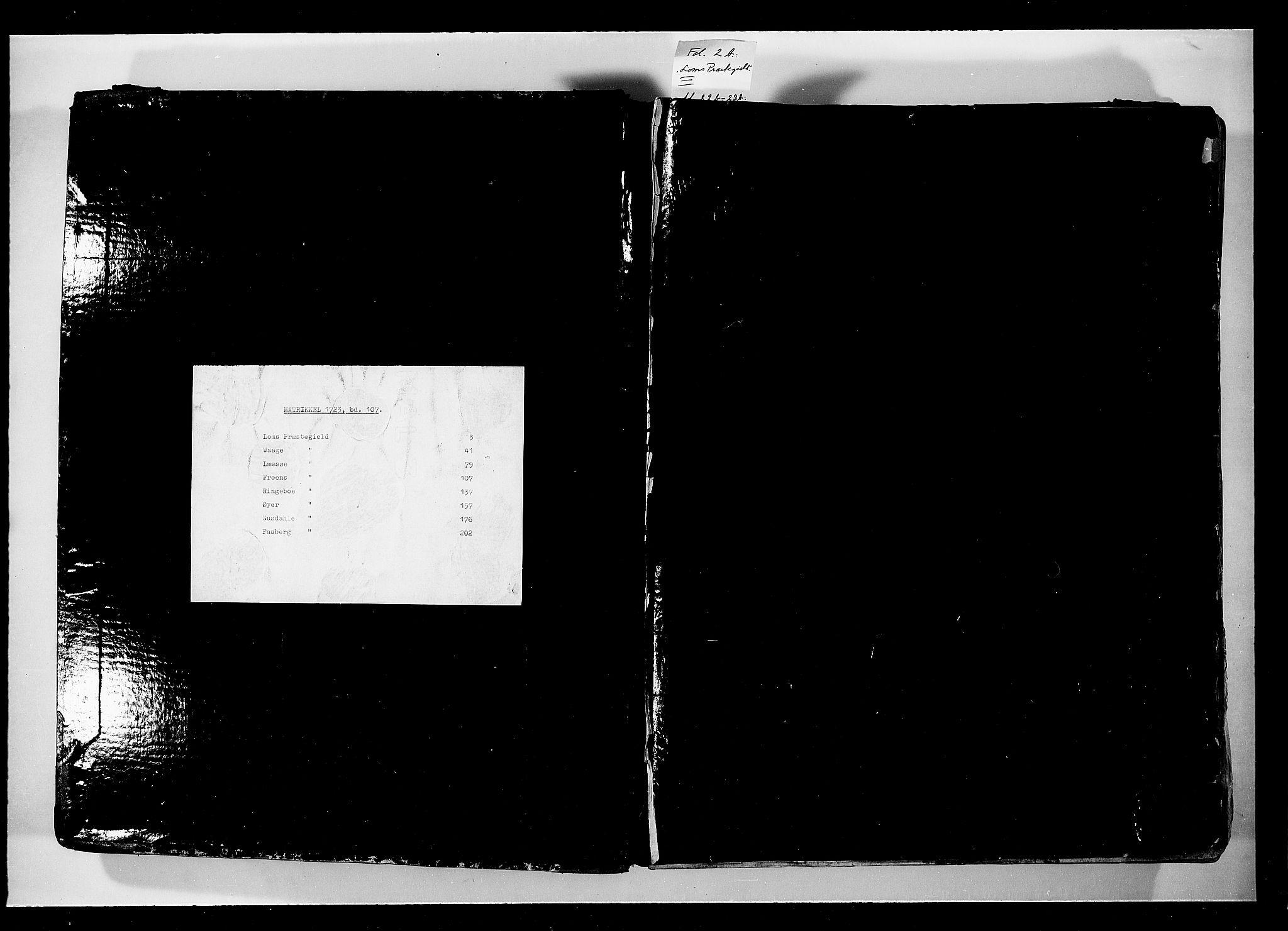 RA, Rentekammeret inntil 1814, Realistisk ordnet avdeling, N/Nb/Nbf/L0107: Gudbrandsdalen eksaminasjonsprotokoll, 1723, s. upaginert