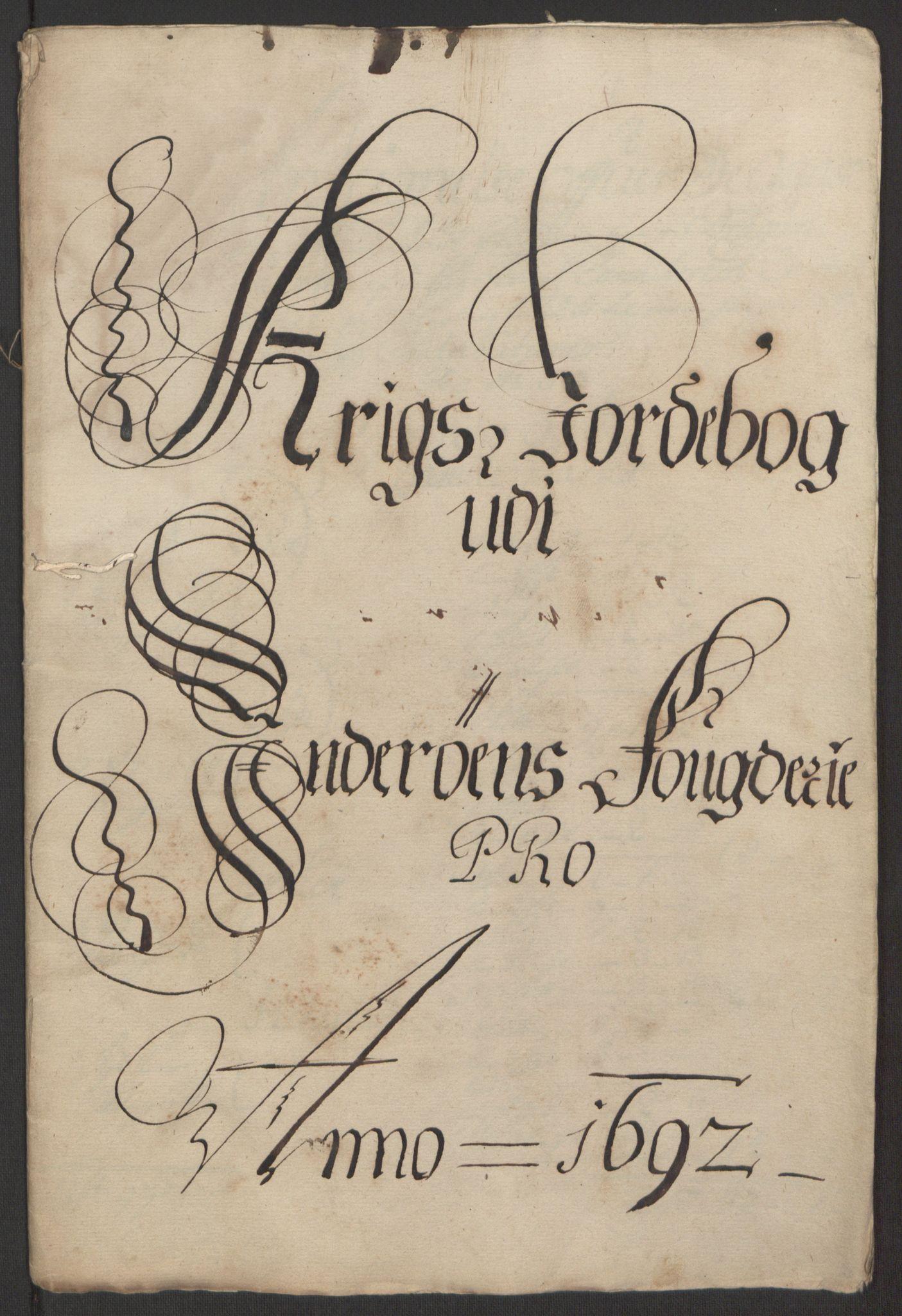 RA, Rentekammeret inntil 1814, Reviderte regnskaper, Fogderegnskap, R63/L4308: Fogderegnskap Inderøy, 1692-1694, s. 203