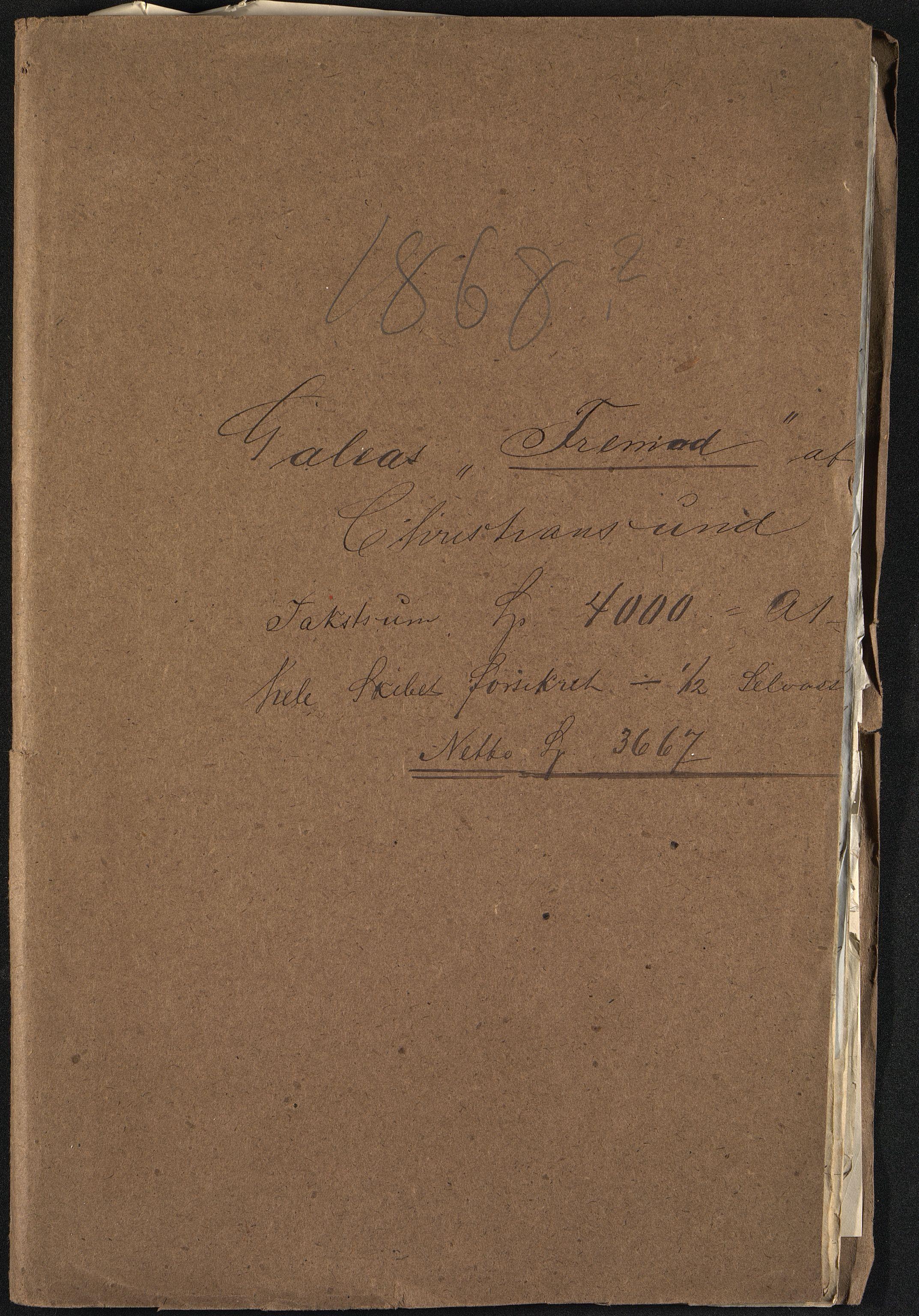 VEMU, Pa 63 - Østlandske skibsassuranceforening, G/Ga/L0001: Havaridokumenter, 1868