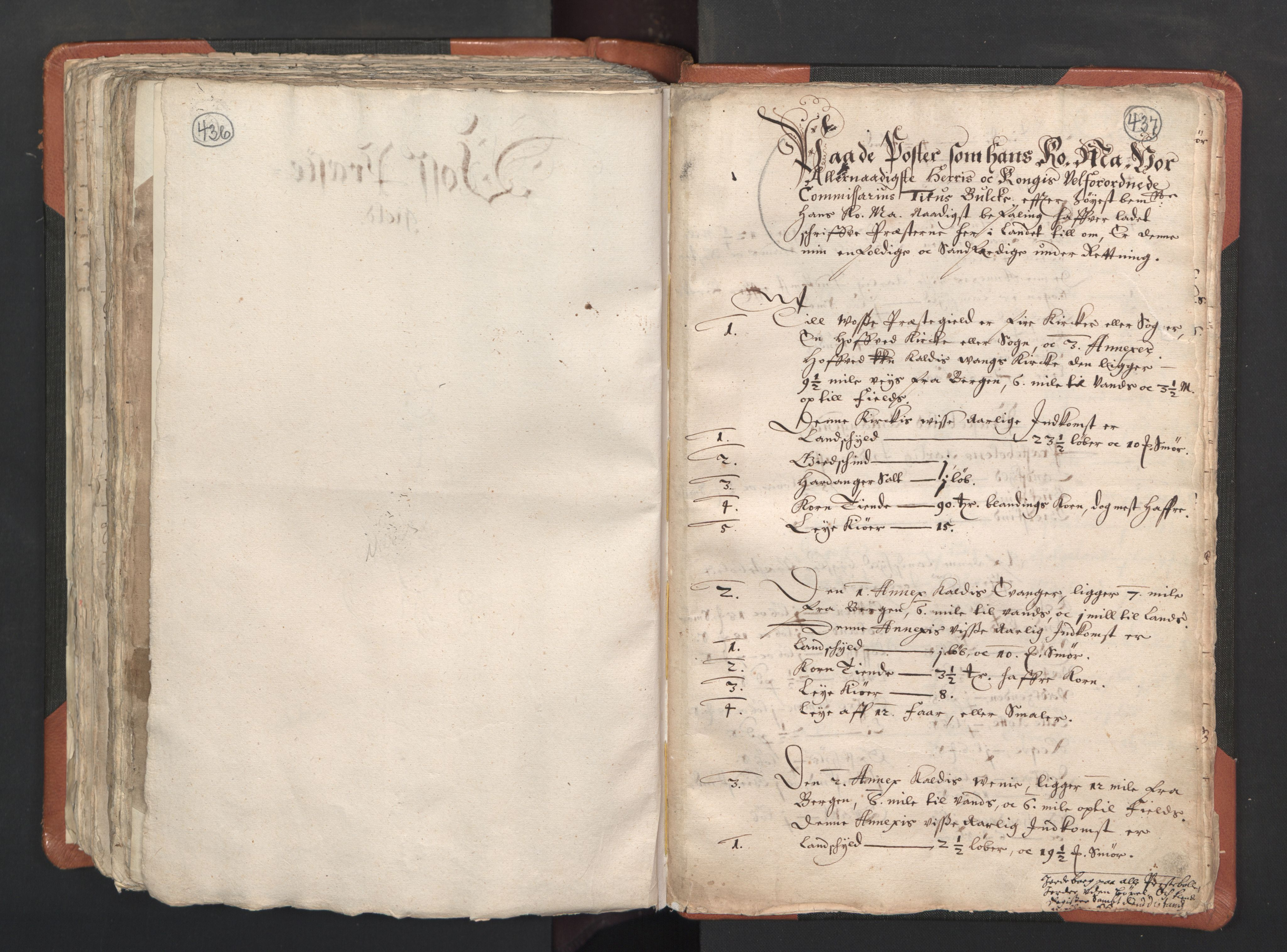 RA, Sogneprestenes manntall 1664-1666, nr. 22: Nordhordland prosti, 1664-1666, s. 436-437