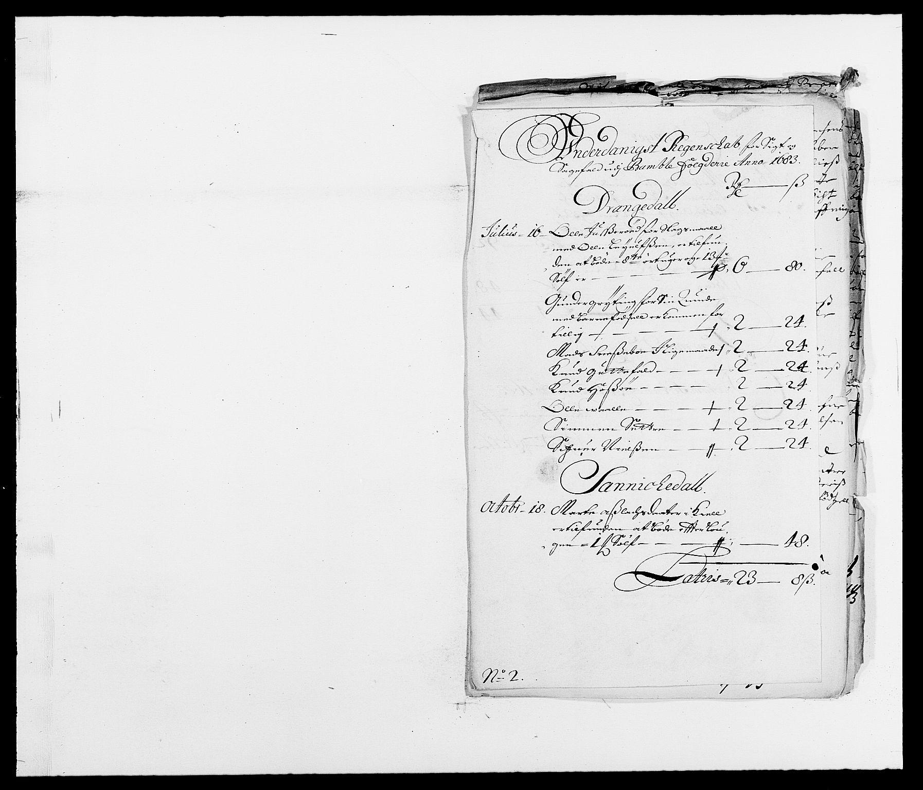 RA, Rentekammeret inntil 1814, Reviderte regnskaper, Fogderegnskap, R34/L2046: Fogderegnskap Bamble, 1682-1683, s. 276