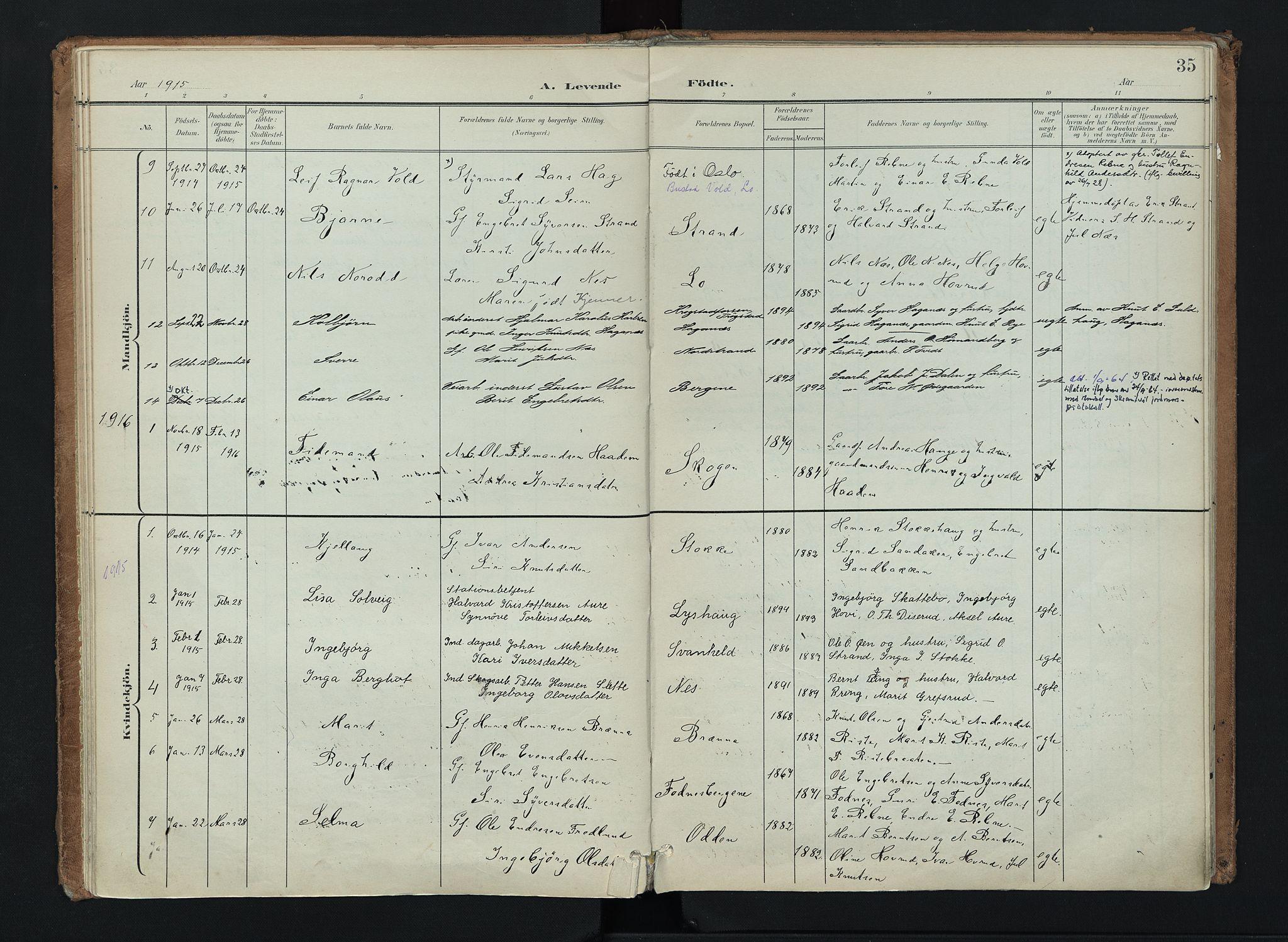 SAH, Nord-Aurdal prestekontor, Ministerialbok nr. 16, 1897-1925, s. 35