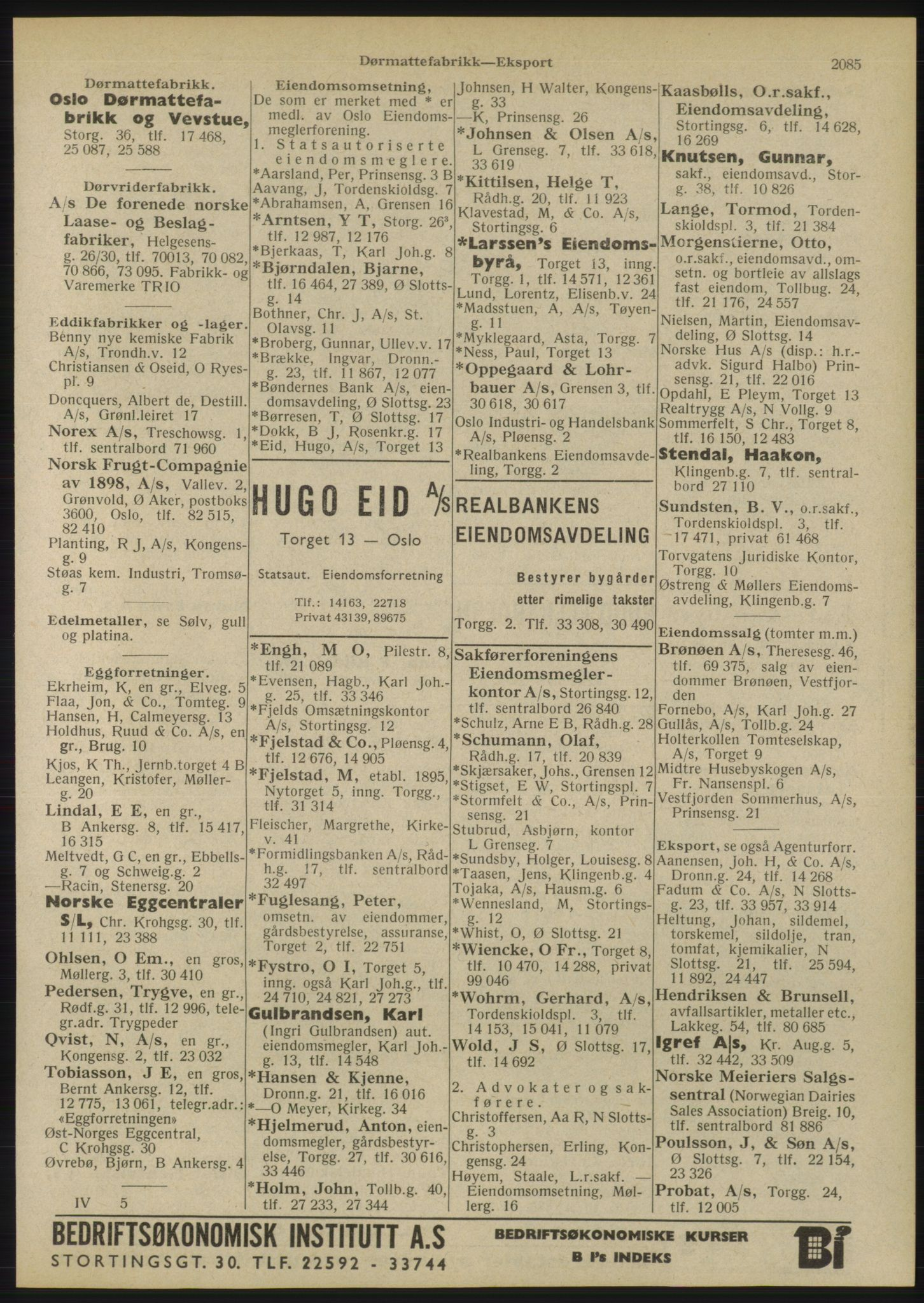 RA, Oslo adressebok (publikasjon)*, 1946, s. 2085
