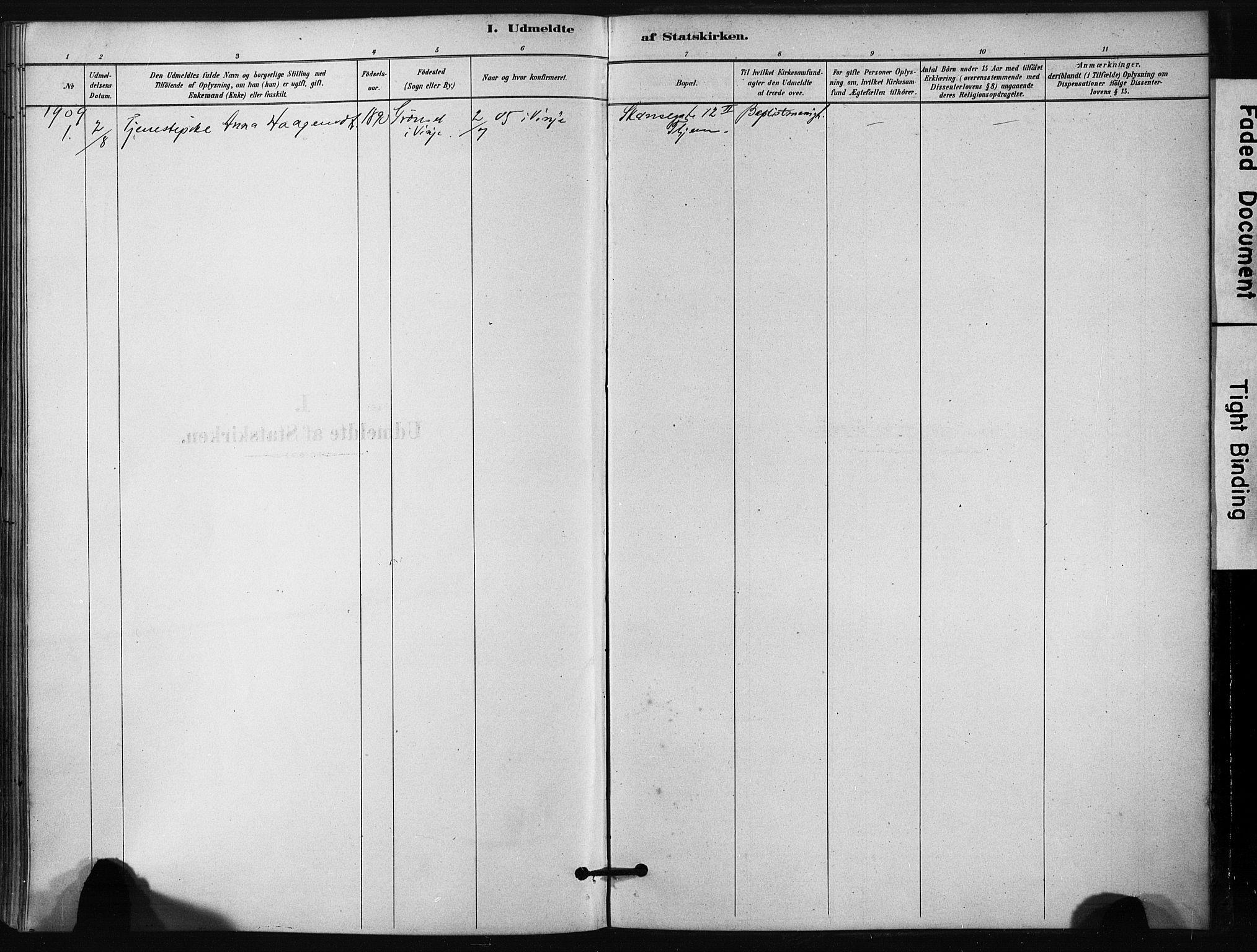 SAT, Ministerialprotokoller, klokkerbøker og fødselsregistre - Sør-Trøndelag, 631/L0512: Ministerialbok nr. 631A01, 1879-1912