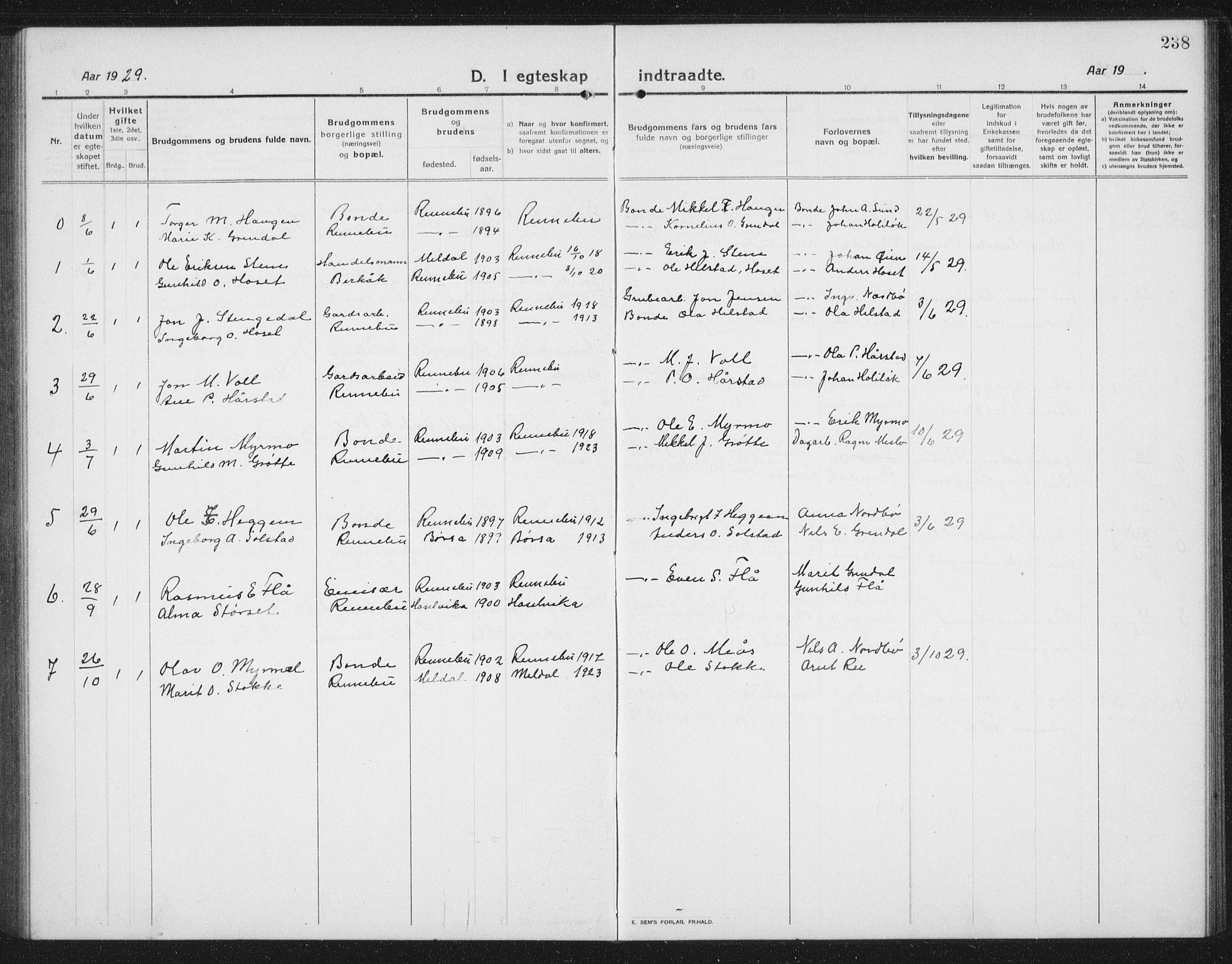 SAT, Ministerialprotokoller, klokkerbøker og fødselsregistre - Sør-Trøndelag, 674/L0877: Klokkerbok nr. 674C04, 1913-1940, s. 238