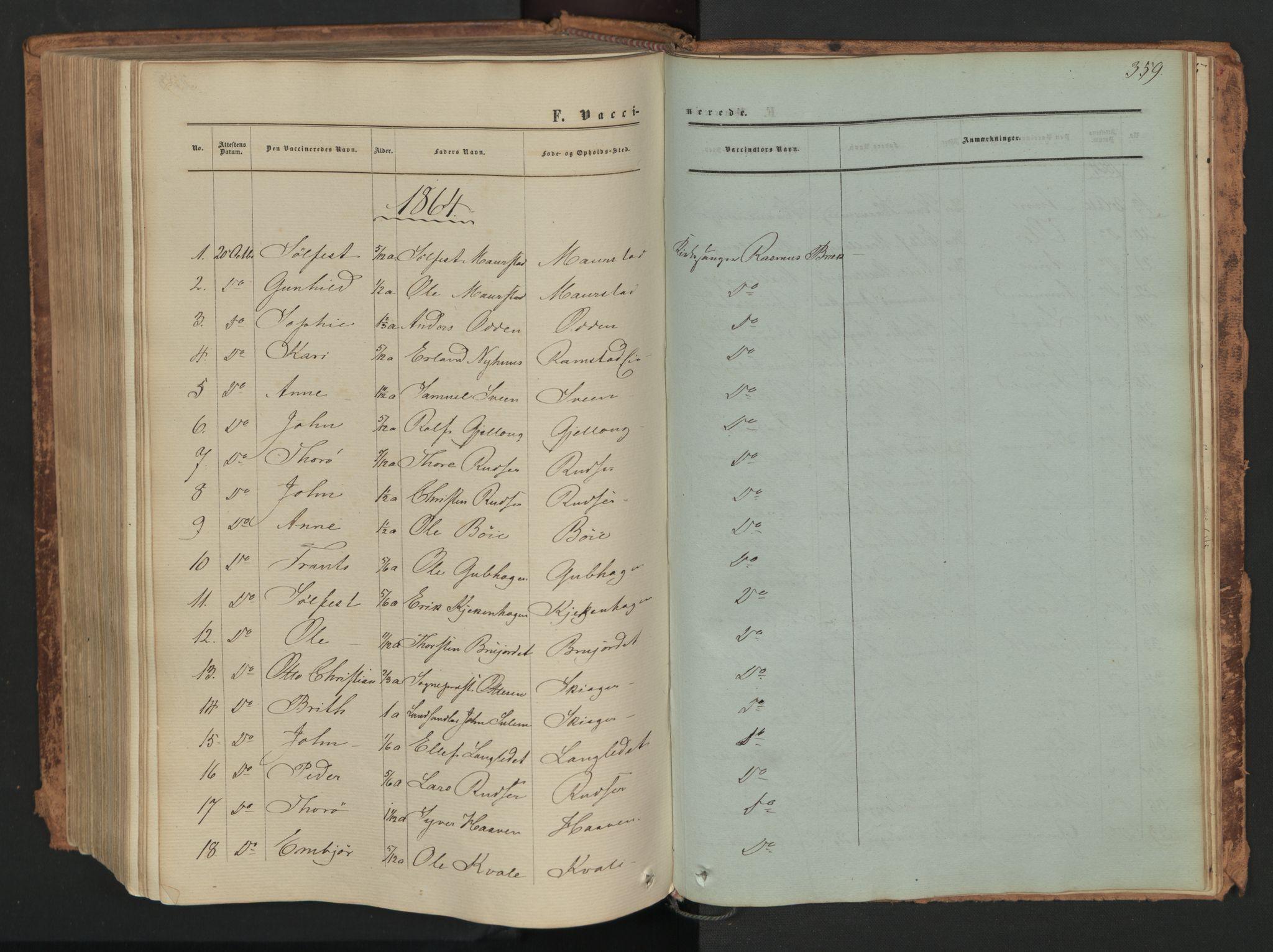 SAH, Skjåk prestekontor, Ministerialbok nr. 1, 1863-1879, s. 359