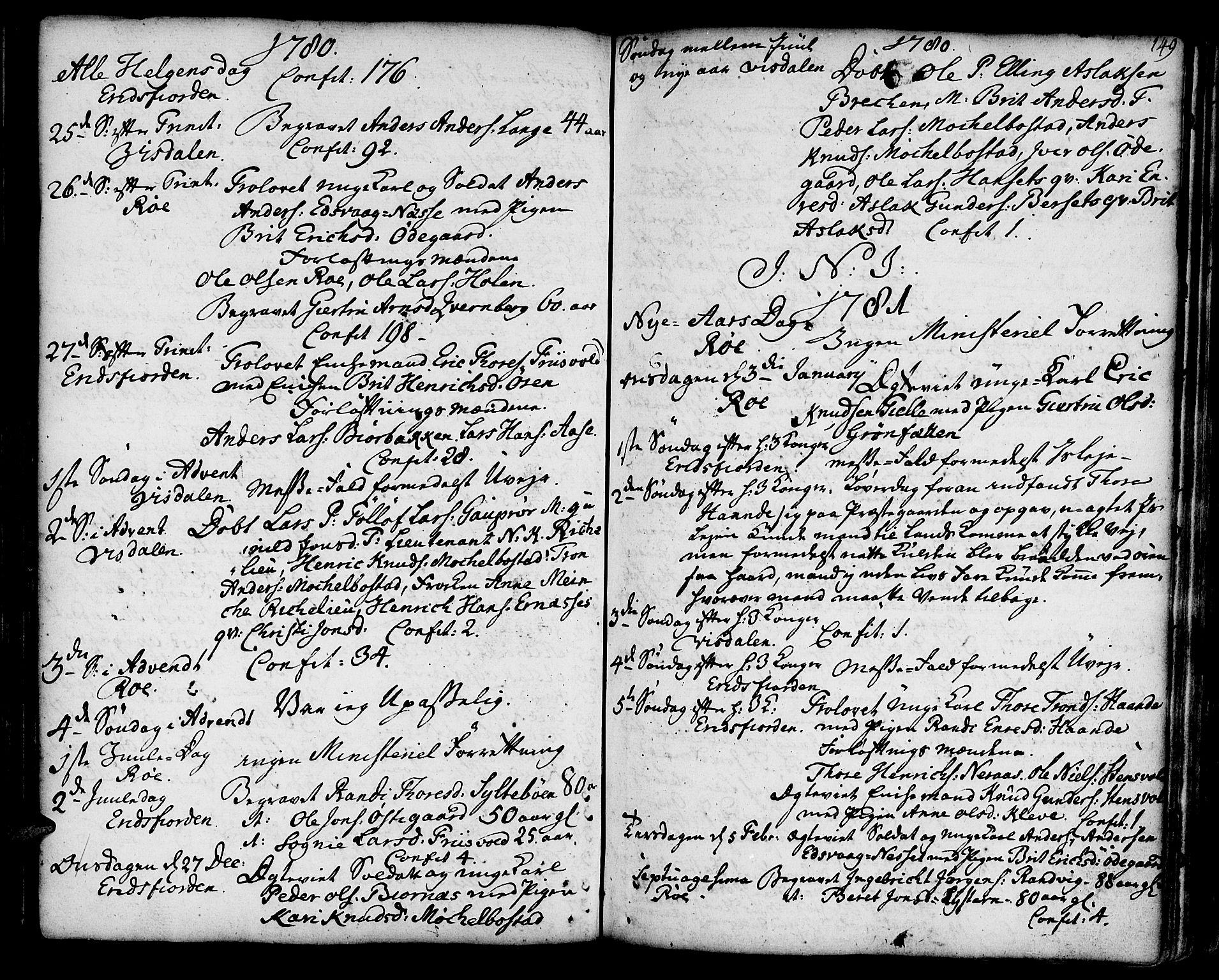SAT, Ministerialprotokoller, klokkerbøker og fødselsregistre - Møre og Romsdal, 551/L0621: Ministerialbok nr. 551A01, 1757-1803, s. 149