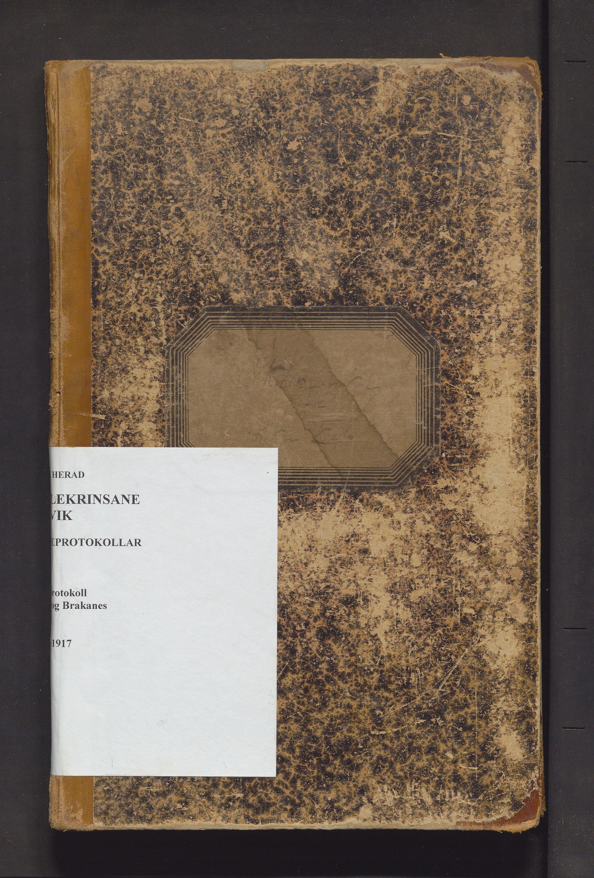 IKAH, Ulvik herad. Barneskulane, F/Fa/L0008: Skuleprotokoll for Lekve og Brakanes skular, 1896-1917
