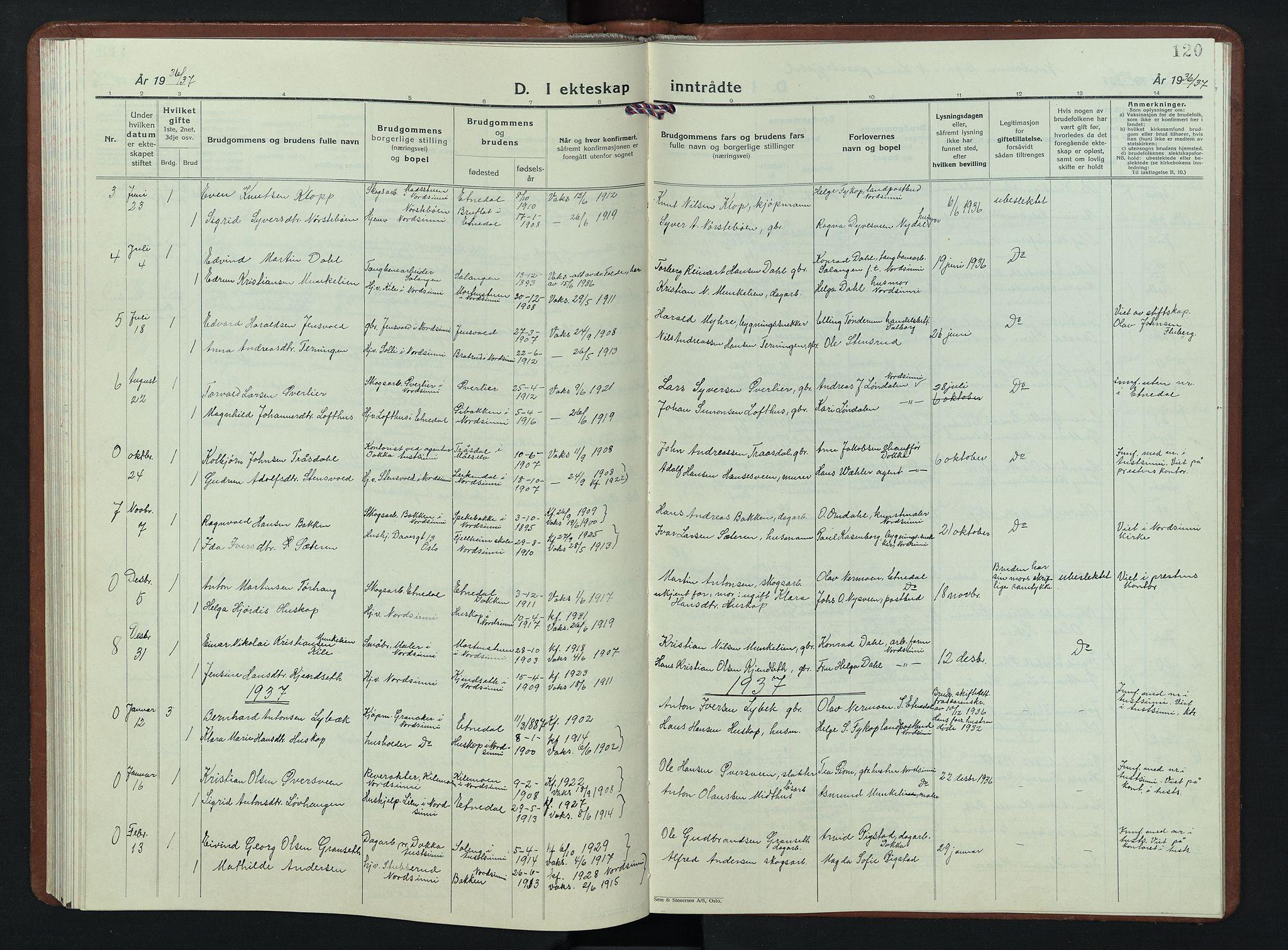 SAH, Nordre Land prestekontor, Klokkerbok nr. 7, 1930-1953, s. 120