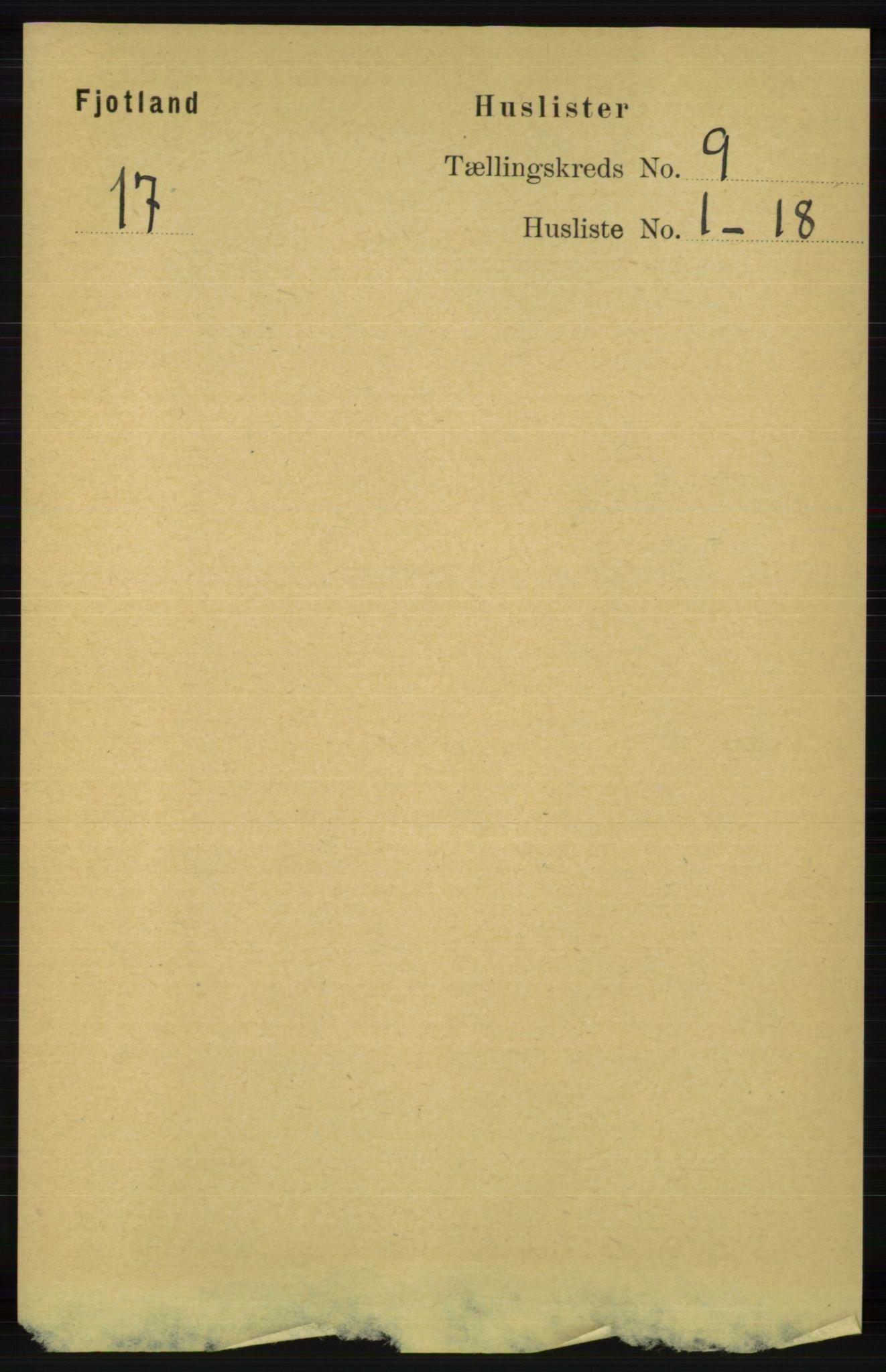 RA, Folketelling 1891 for 1036 Fjotland herred, 1891, s. 1280