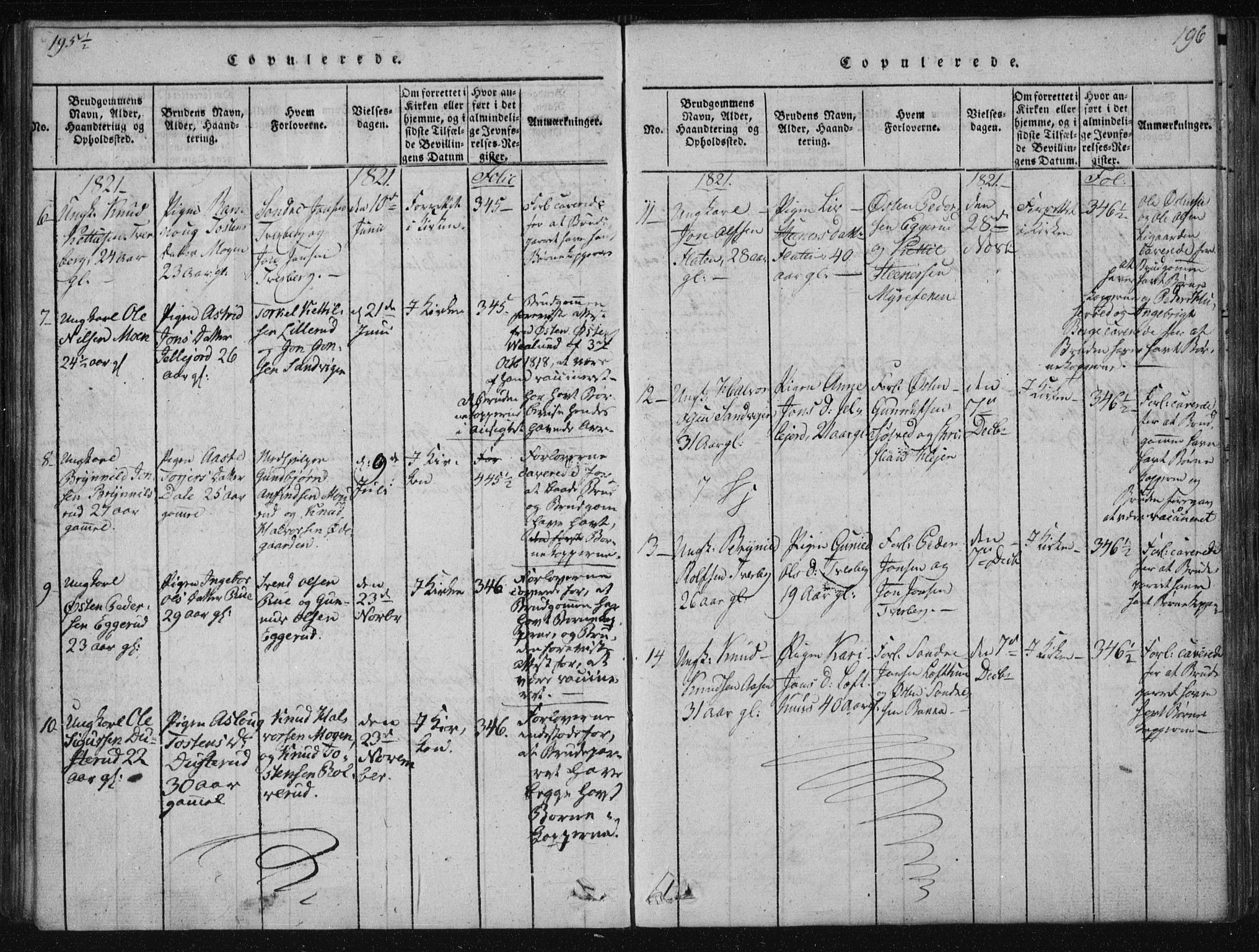 SAKO, Tinn kirkebøker, F/Fa/L0004: Ministerialbok nr. I 4, 1815-1843, s. 196