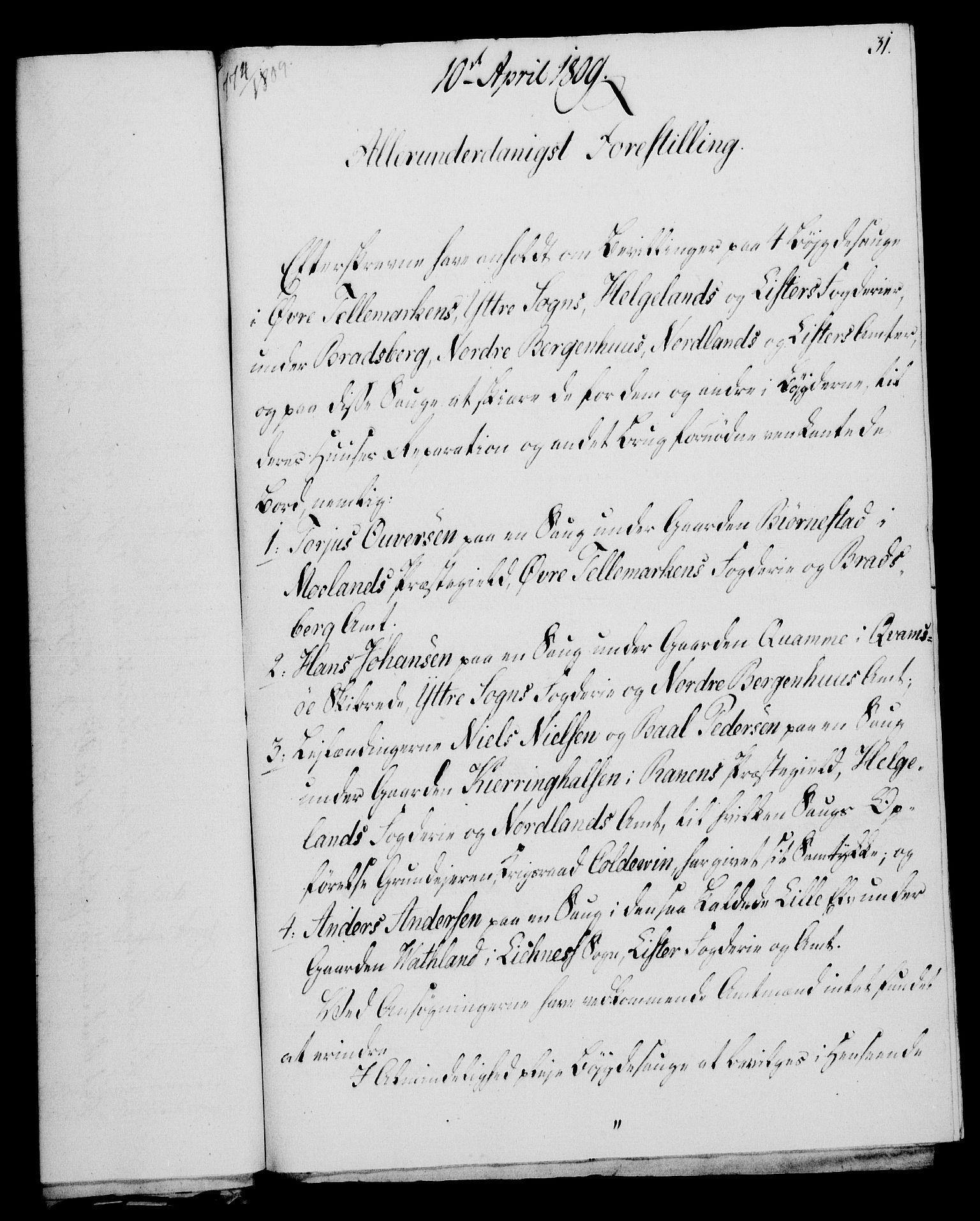 RA, Rentekammeret, Kammerkanselliet, G/Gf/Gfa/L0091: Norsk relasjons- og resolusjonsprotokoll (merket RK 52.91), 1809, s. 147