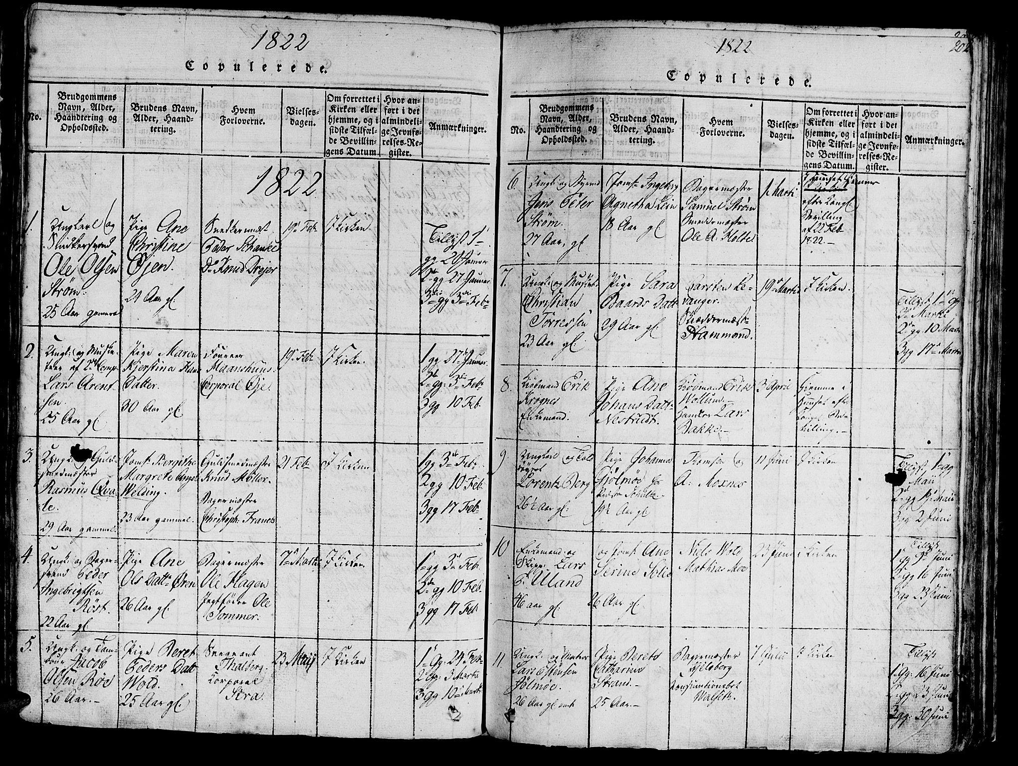 SAT, Ministerialprotokoller, klokkerbøker og fødselsregistre - Sør-Trøndelag, 602/L0135: Klokkerbok nr. 602C03, 1815-1832, s. 202