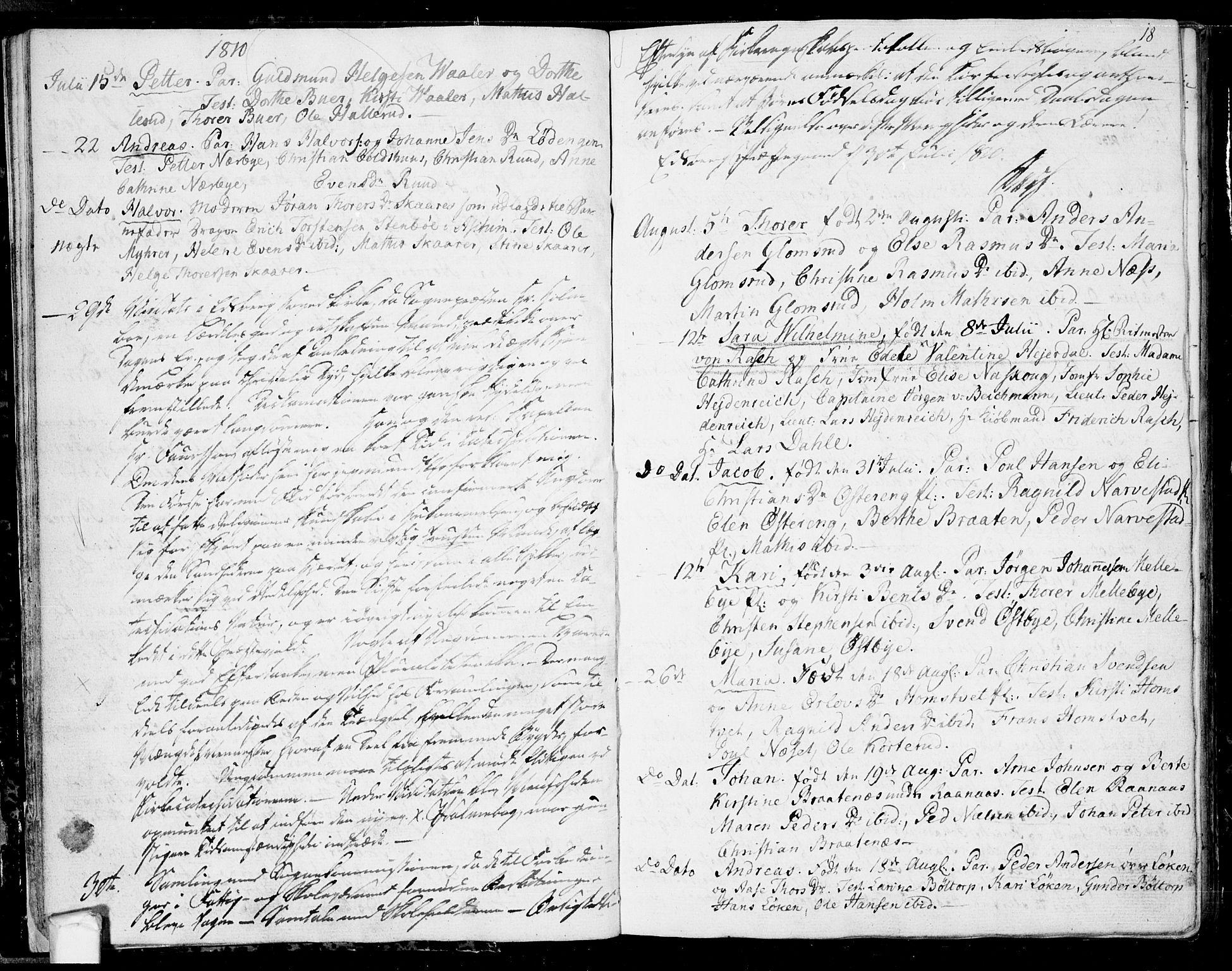 SAO, Eidsberg prestekontor Kirkebøker, F/Fa/L0006: Ministerialbok nr. I 6, 1807-1814, s. 18