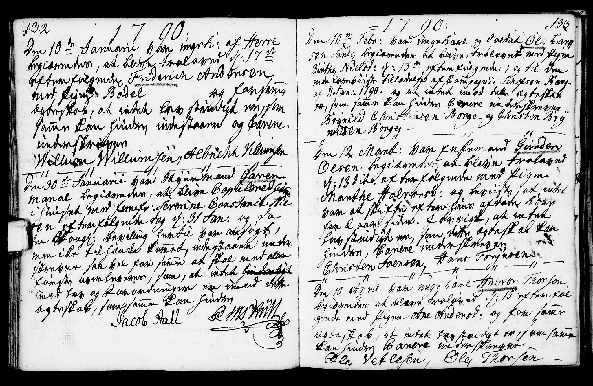 SAKO, Porsgrunn kirkebøker , F/Fa/L0003: Ministerialbok nr. 3, 1764-1814, s. 132-133
