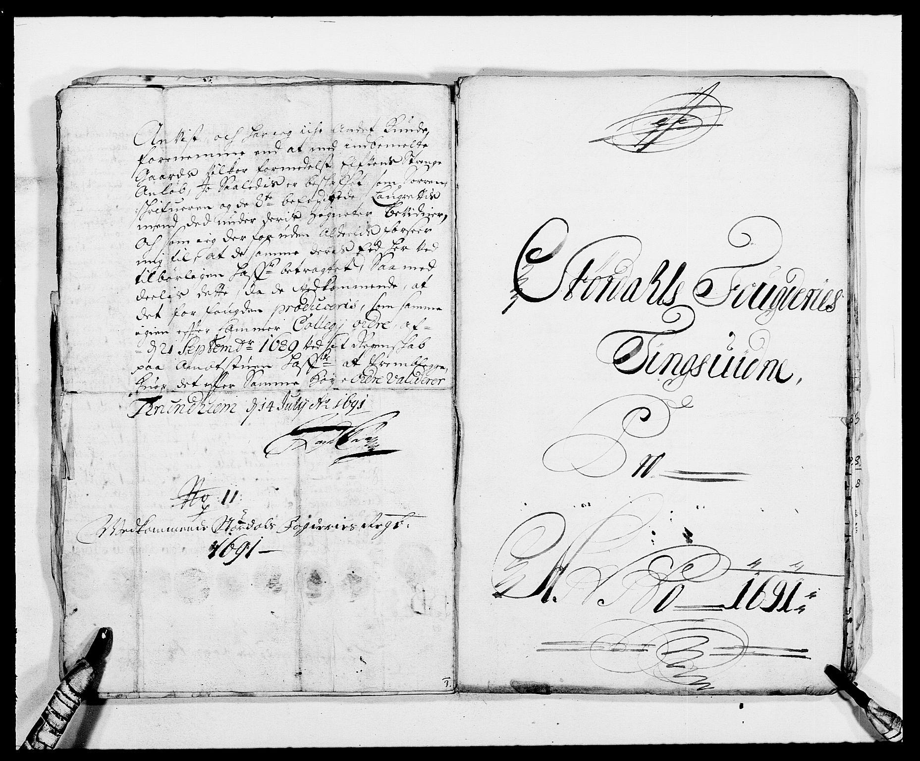 RA, Rentekammeret inntil 1814, Reviderte regnskaper, Fogderegnskap, R62/L4184: Fogderegnskap Stjørdal og Verdal, 1690-1691, s. 441