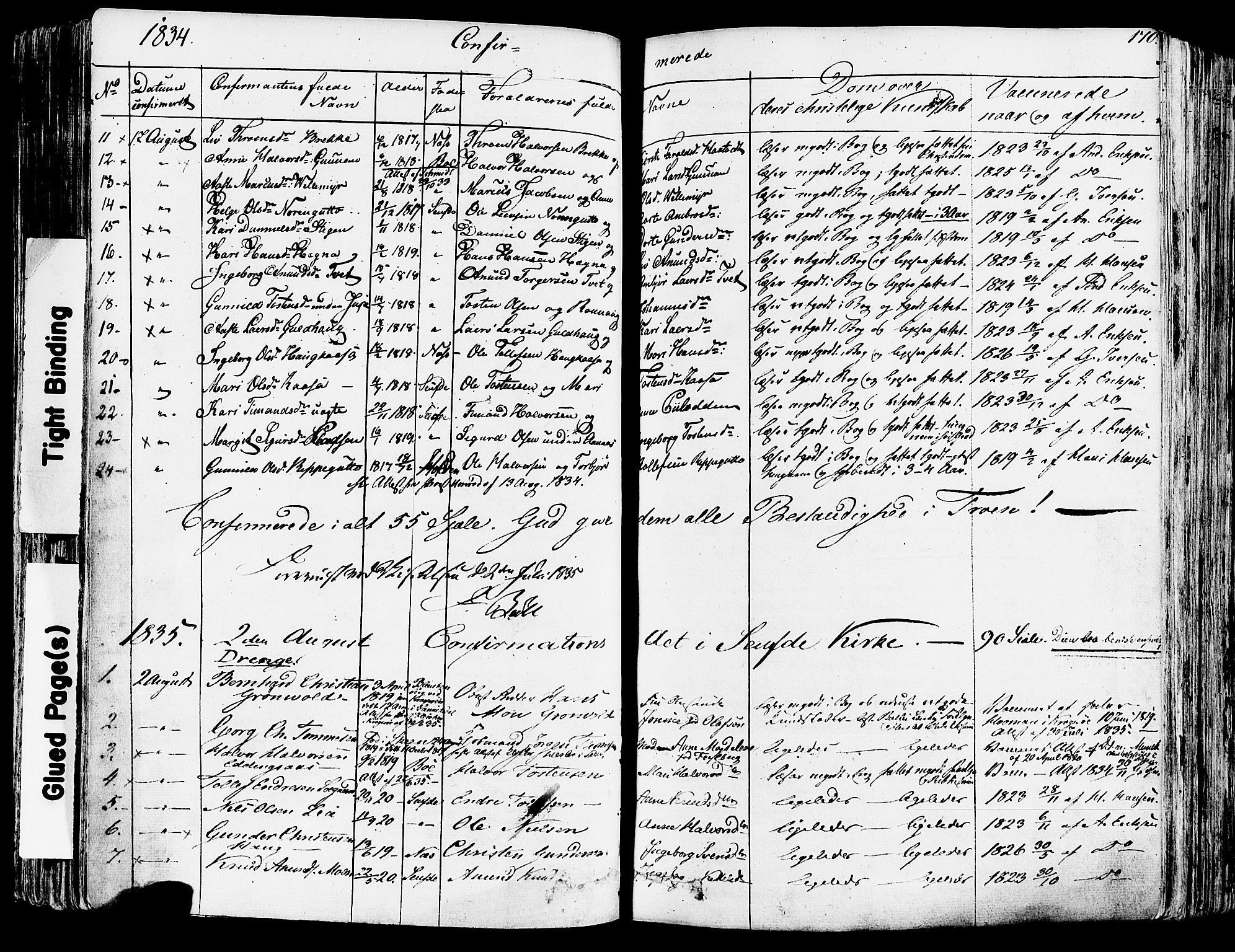 SAKO, Sauherad kirkebøker, F/Fa/L0006: Ministerialbok nr. I 6, 1827-1850, s. 170