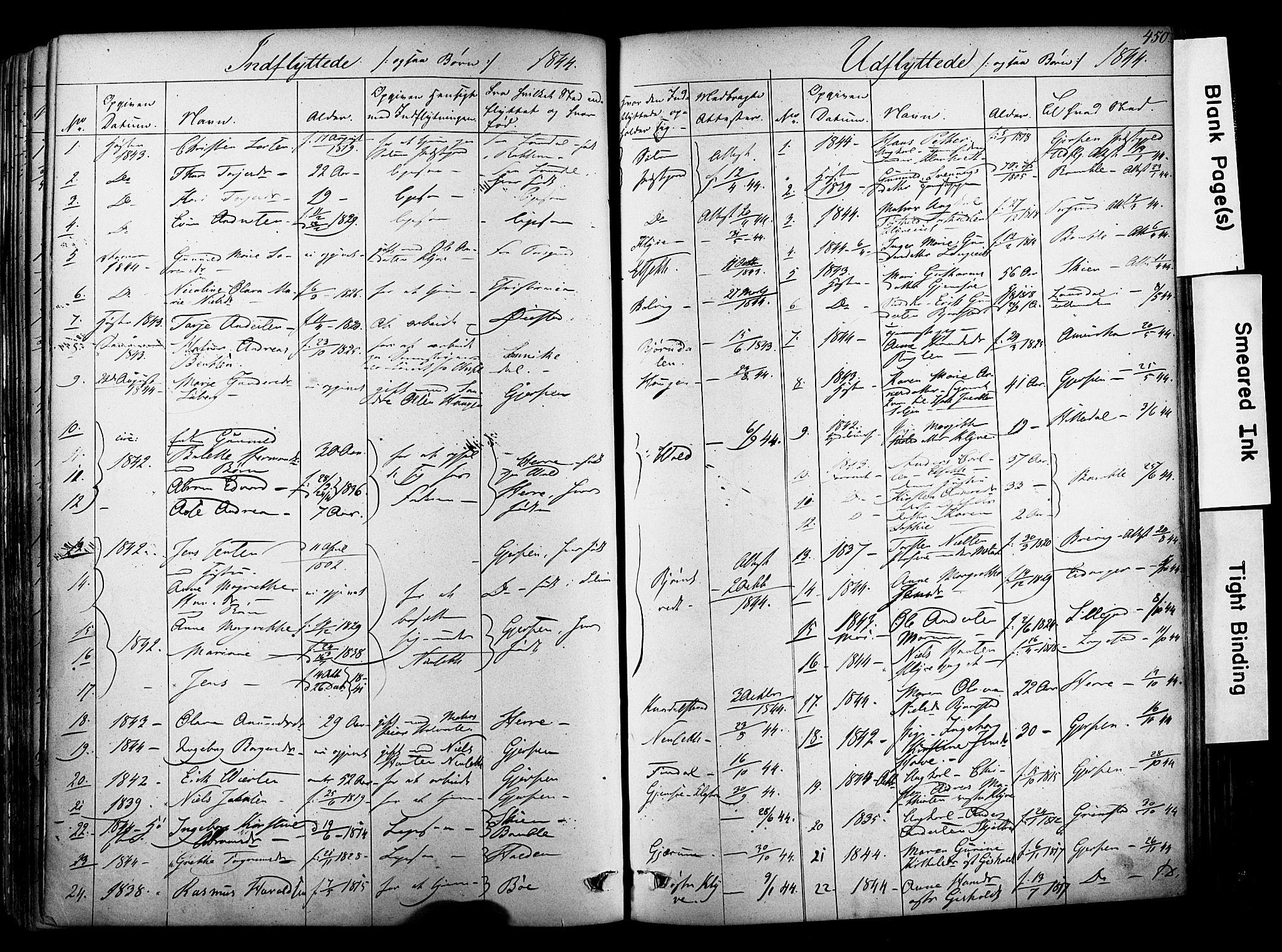 SAKO, Solum kirkebøker, F/Fa/L0006: Ministerialbok nr. I 6, 1844-1855, s. 450