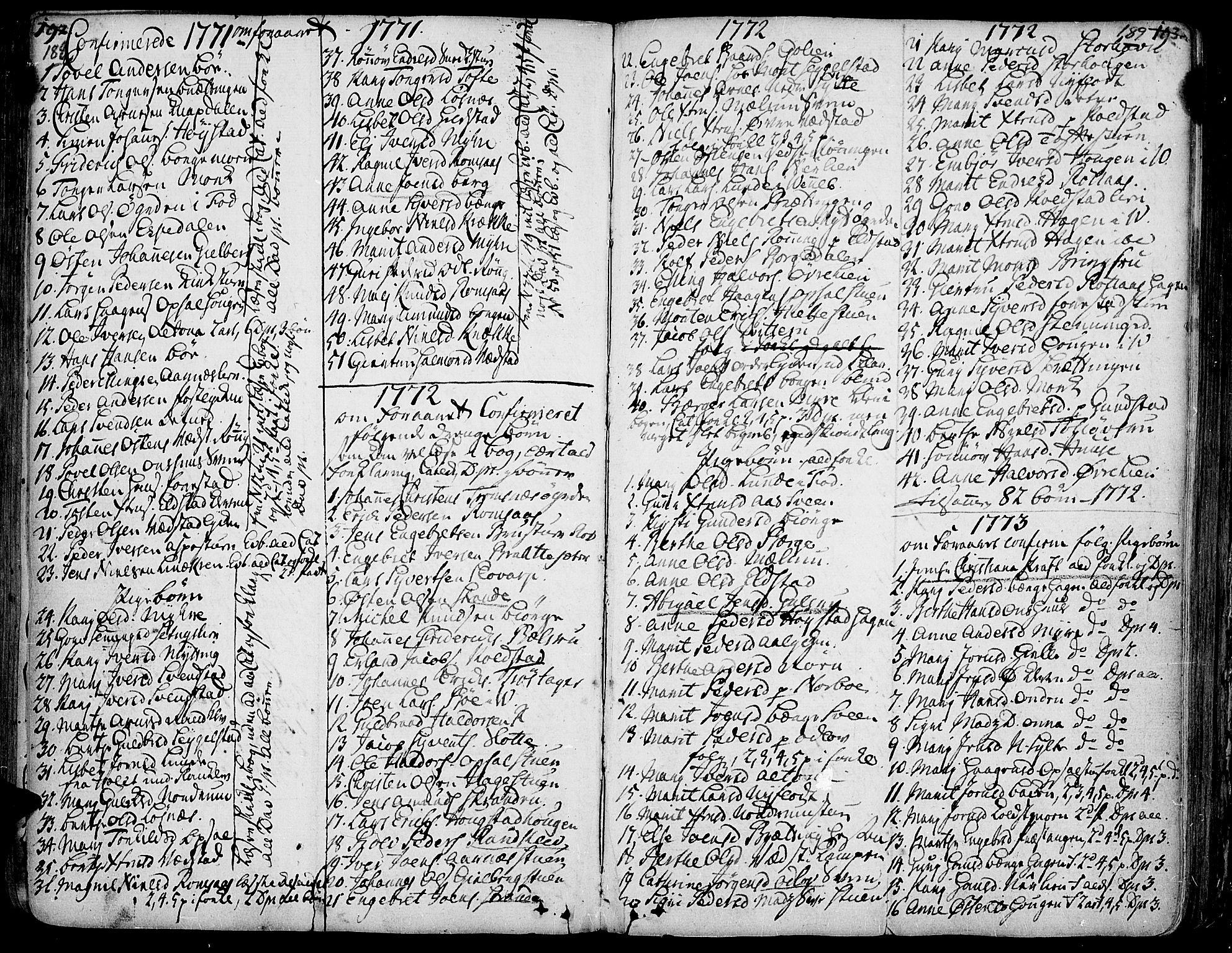 SAH, Ringebu prestekontor, Ministerialbok nr. 2, 1734-1780, s. 188-189