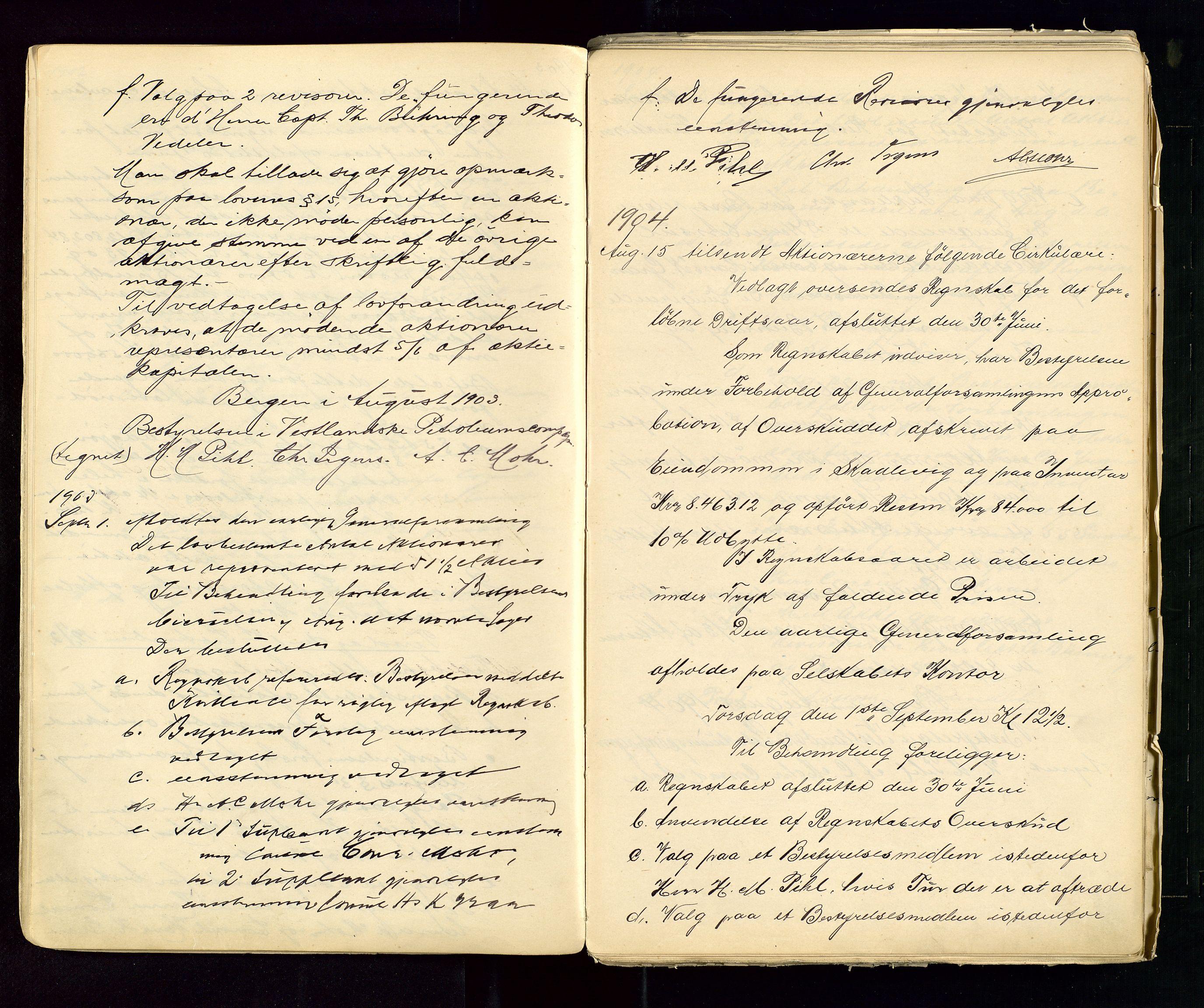 SAST, PA 1533 - A/S Vestlandske Petroleumscompani, A/Aa/L0001: Generalforsamlinger og styreprotokoller, 1890-1953, s. 28
