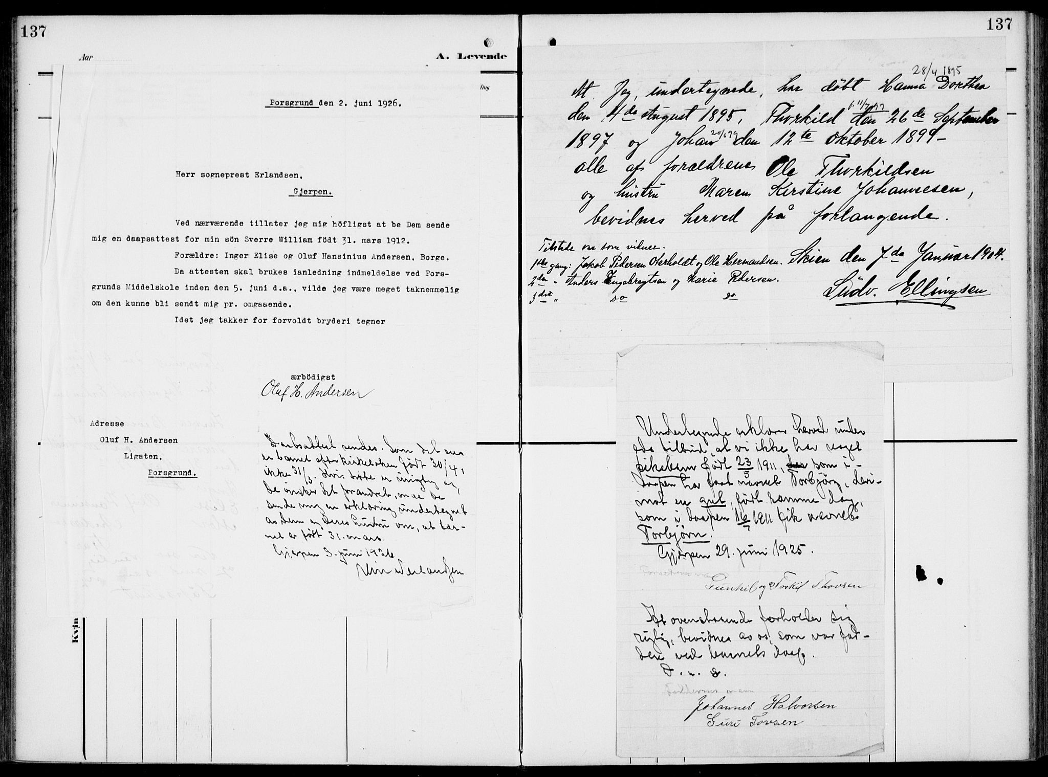 SAKO, Gjerpen kirkebøker, F/Fa/L0012: Ministerialbok nr. 12, 1905-1913, s. 137