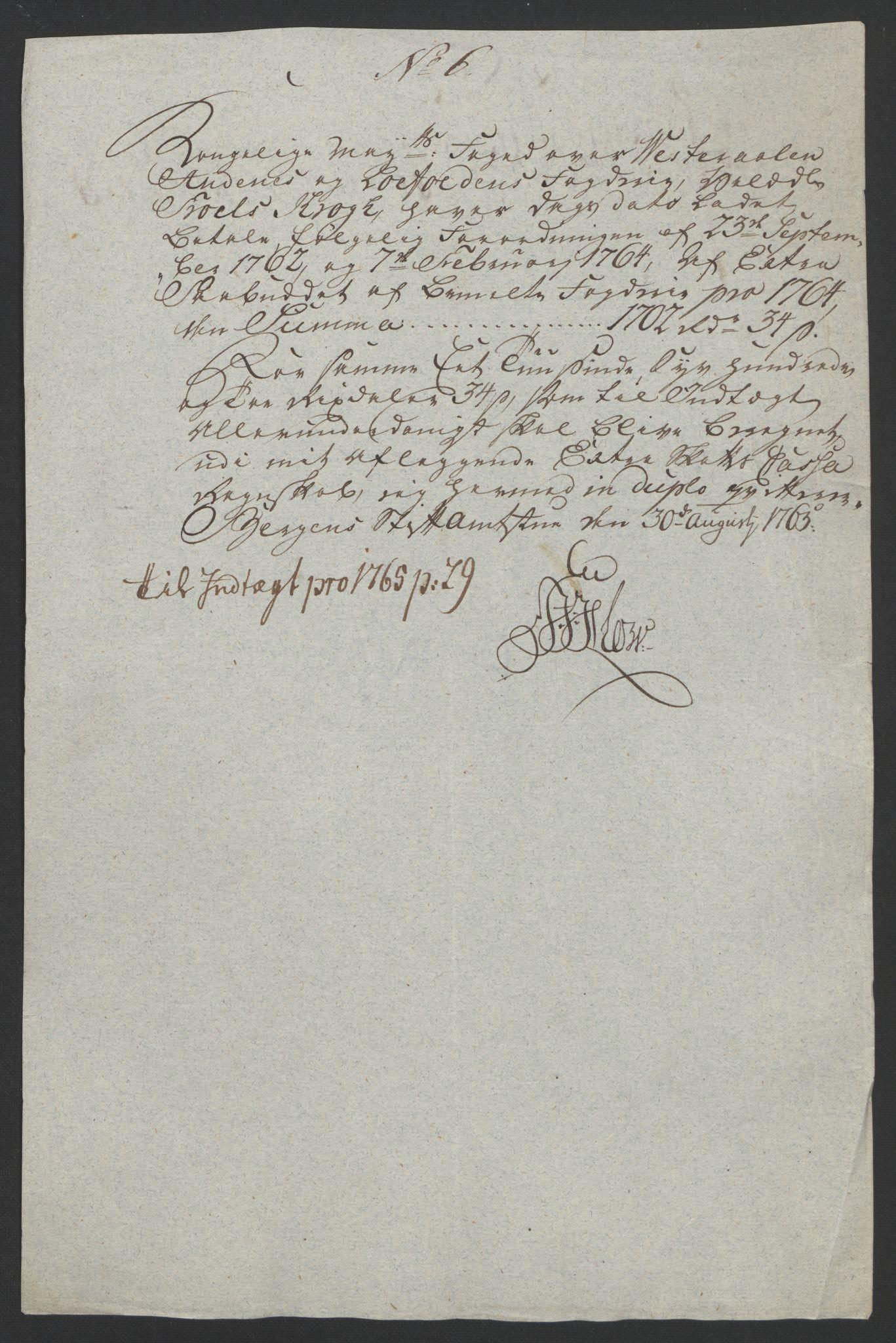 RA, Rentekammeret inntil 1814, Reviderte regnskaper, Fogderegnskap, R67/L4747: Ekstraskatten Vesterålen, Andenes og Lofoten, 1762-1766, s. 433