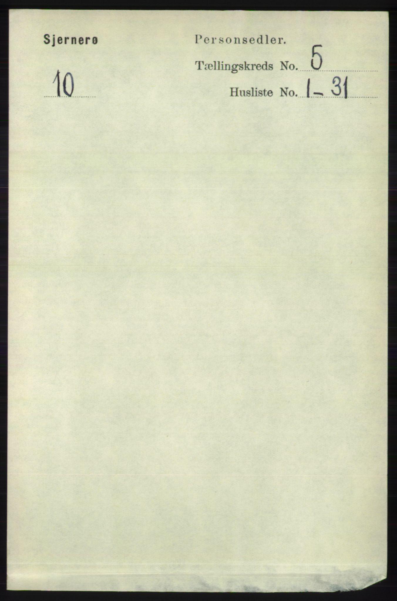 RA, Folketelling 1891 for 1140 Sjernarøy herred, 1891, s. 807