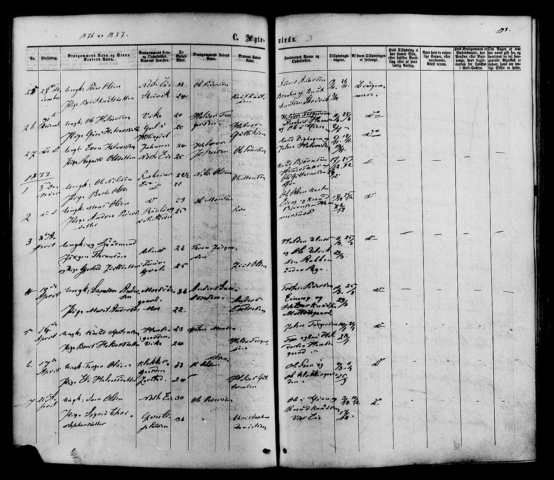 SAH, Vestre Slidre prestekontor, Ministerialbok nr. 3, 1865-1880, s. 193