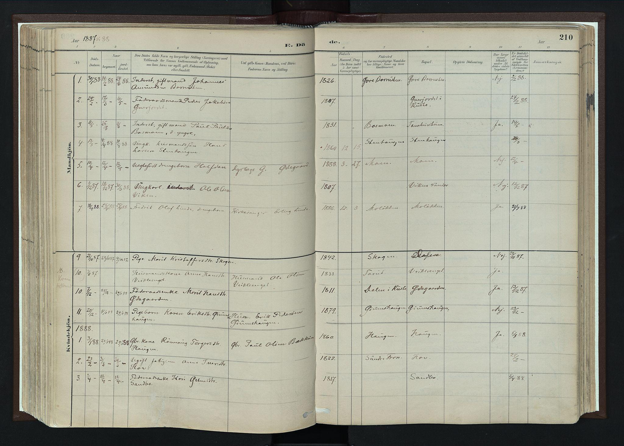 SAH, Nord-Fron prestekontor, Ministerialbok nr. 4, 1884-1914, s. 210