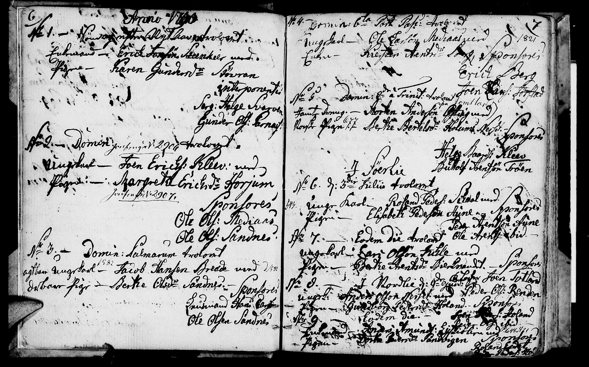 SAT, Ministerialprotokoller, klokkerbøker og fødselsregistre - Nord-Trøndelag, 749/L0468: Ministerialbok nr. 749A02, 1787-1817, s. 6-7