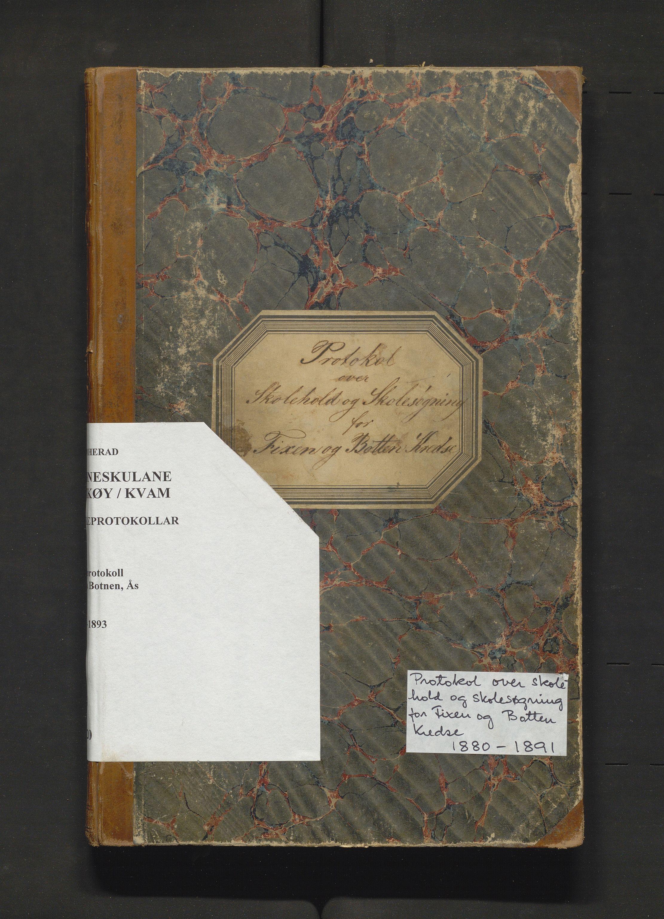 IKAH, Kvam herad. Barneskulane, F/Fa/L0020: Skuleprotokoll for Fykse, Botnen og Ås krinsar, 1880-1893