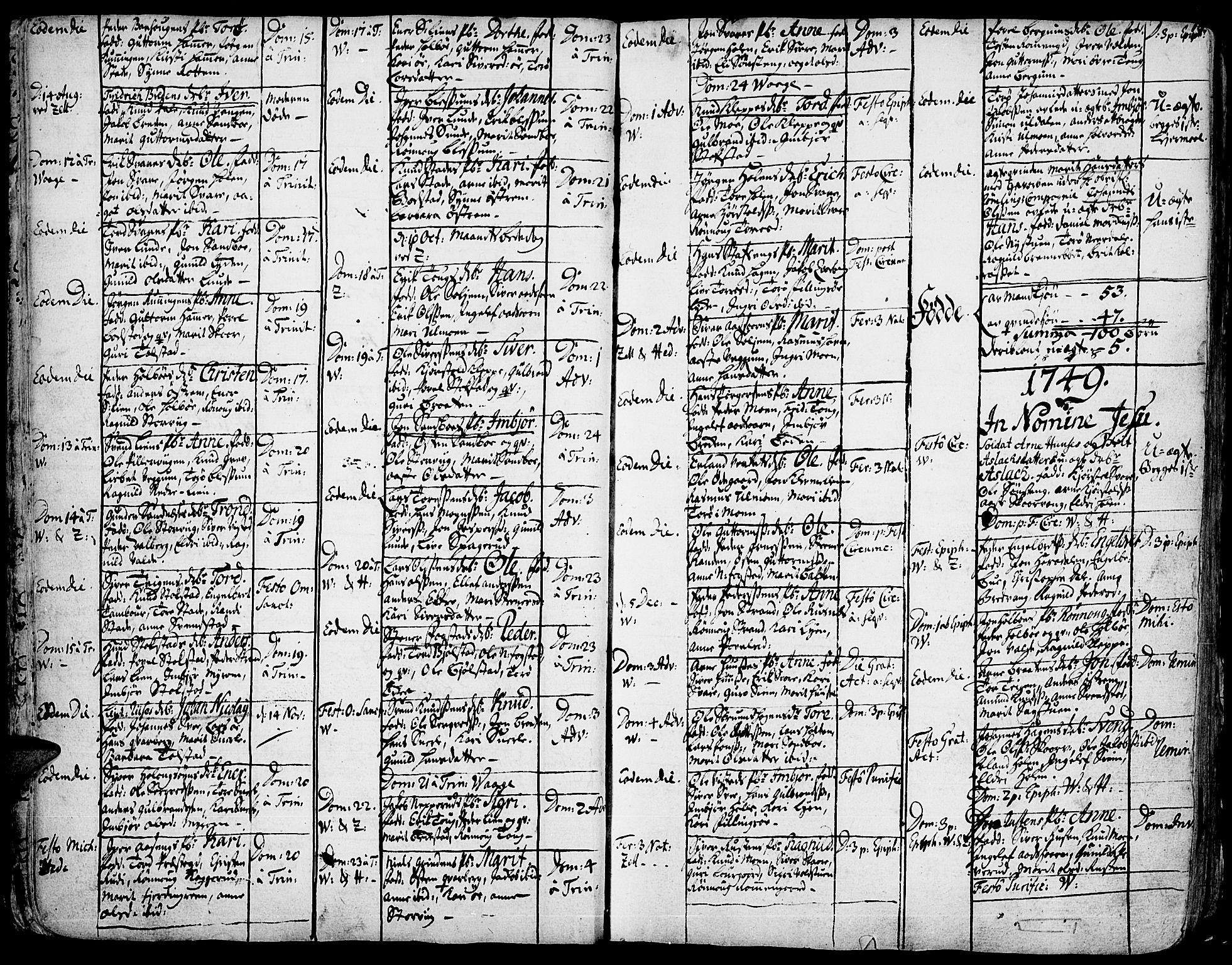 SAH, Vågå prestekontor, Ministerialbok nr. 1, 1739-1810, s. 19