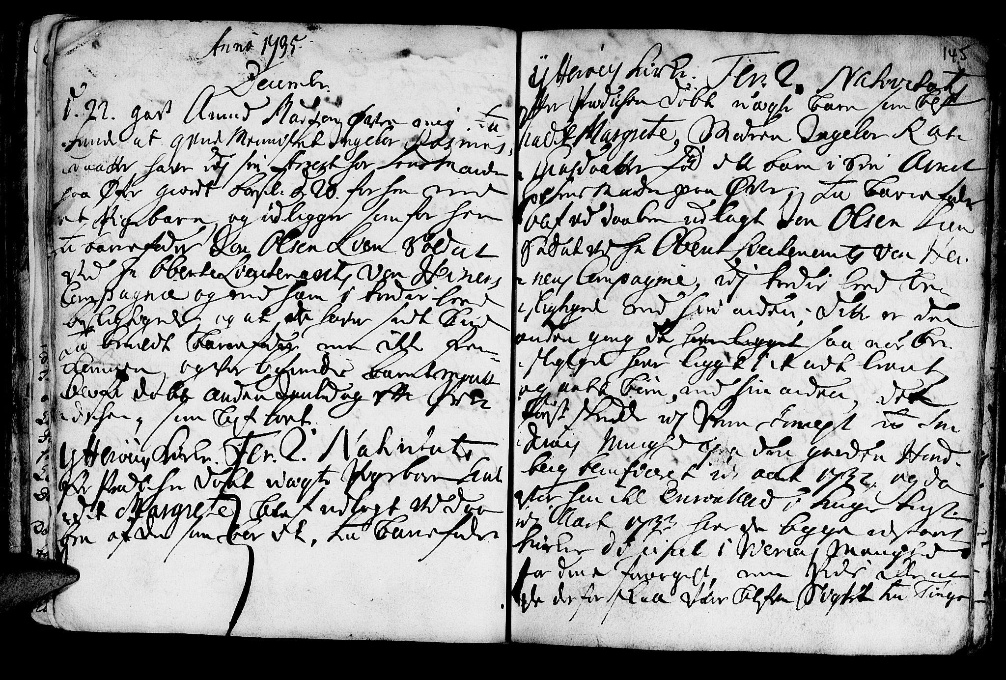 SAT, Ministerialprotokoller, klokkerbøker og fødselsregistre - Nord-Trøndelag, 722/L0215: Ministerialbok nr. 722A02, 1718-1755, s. 145